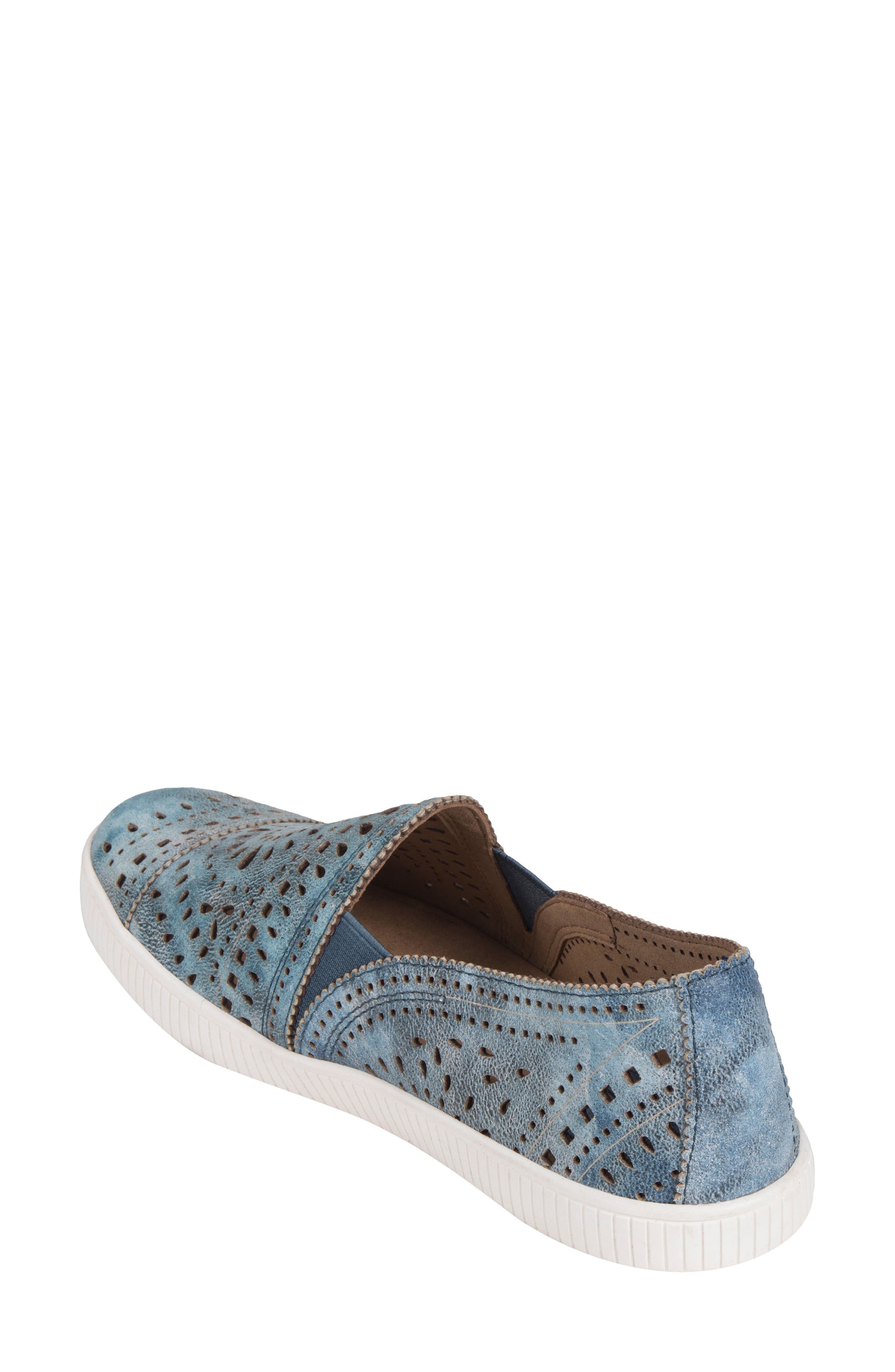 Tayberry Perforated Slip-On Sneaker,                             Alternate thumbnail 7, color,