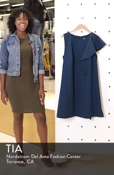 Ruffle Crepe A-Line Dress, sales video thumbnail