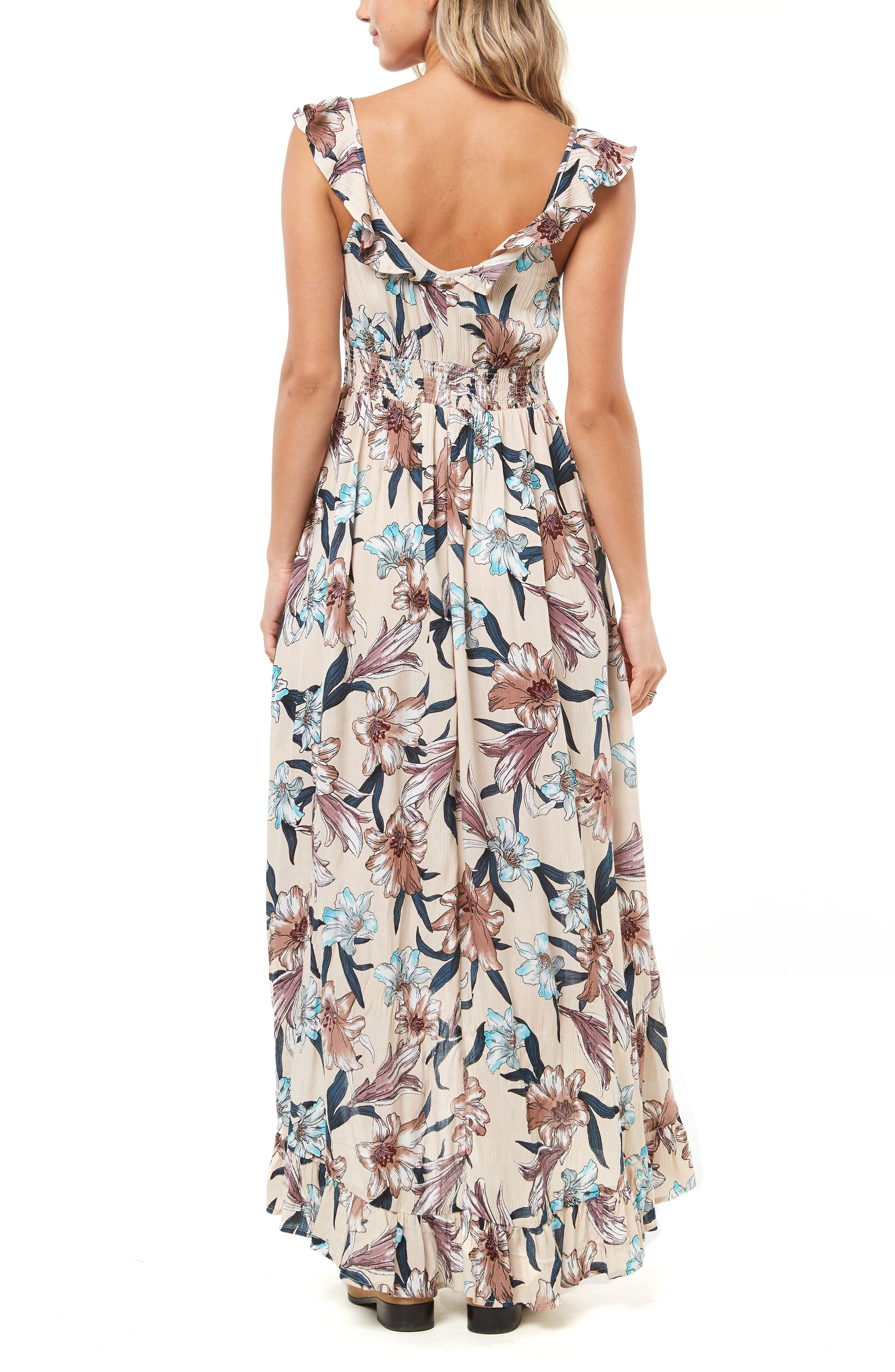 Cleo Ruffle Maxi Dress,                             Alternate thumbnail 2, color,                             MULTI COLORED