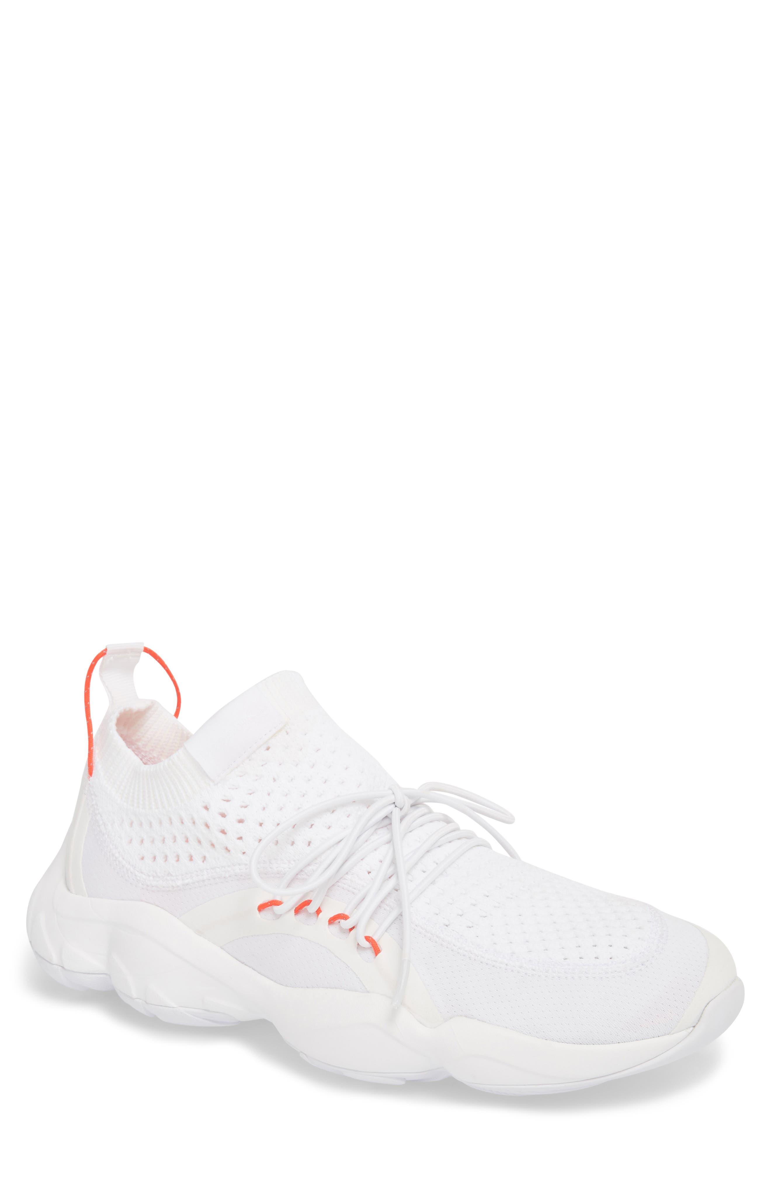 DMX Fusion NR Sneaker,                             Main thumbnail 1, color,                             WHITE/ BLACK/ NEON CHERRY