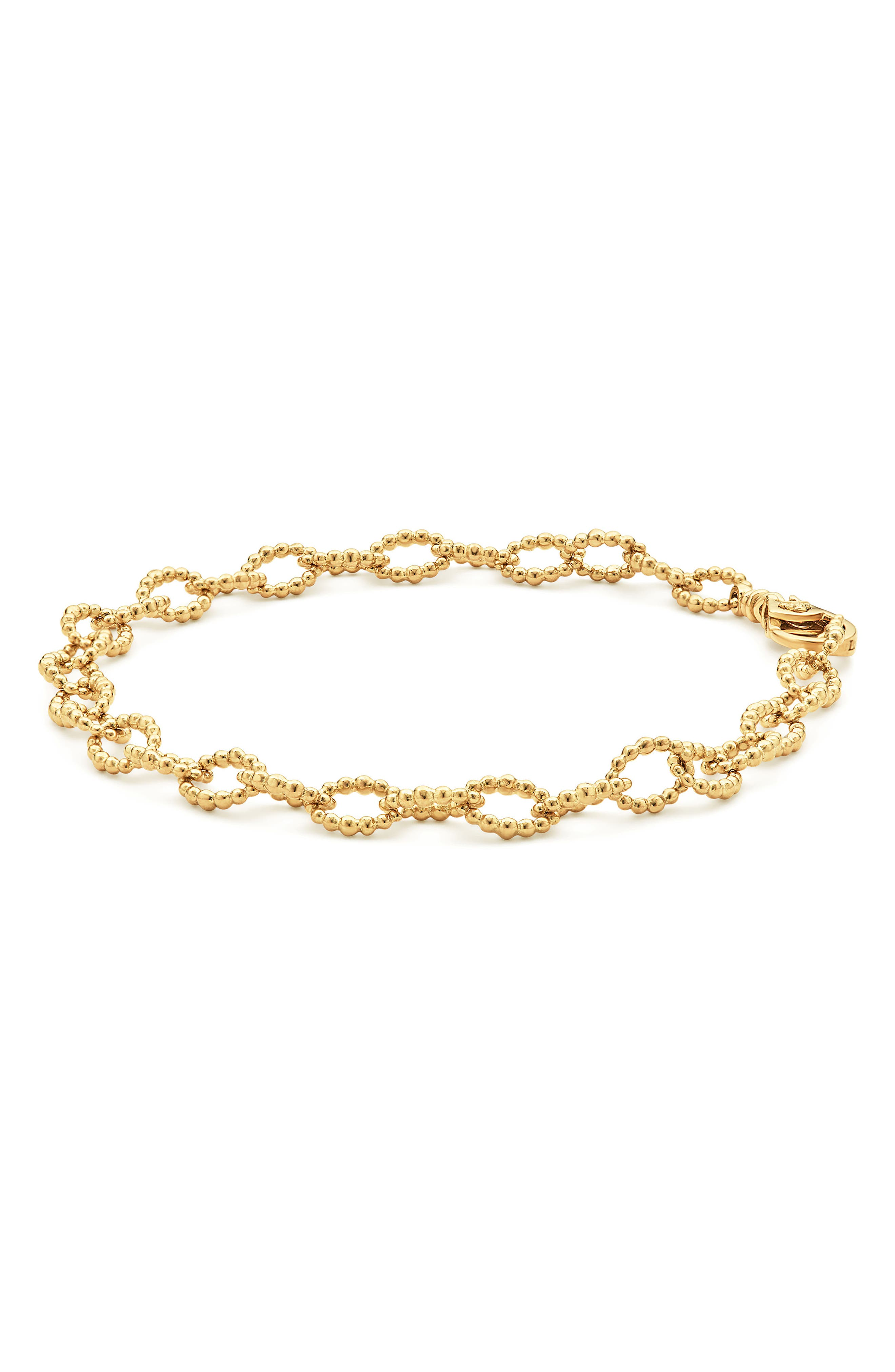Caviar Link Bracelet,                             Alternate thumbnail 6, color,                             GOLD