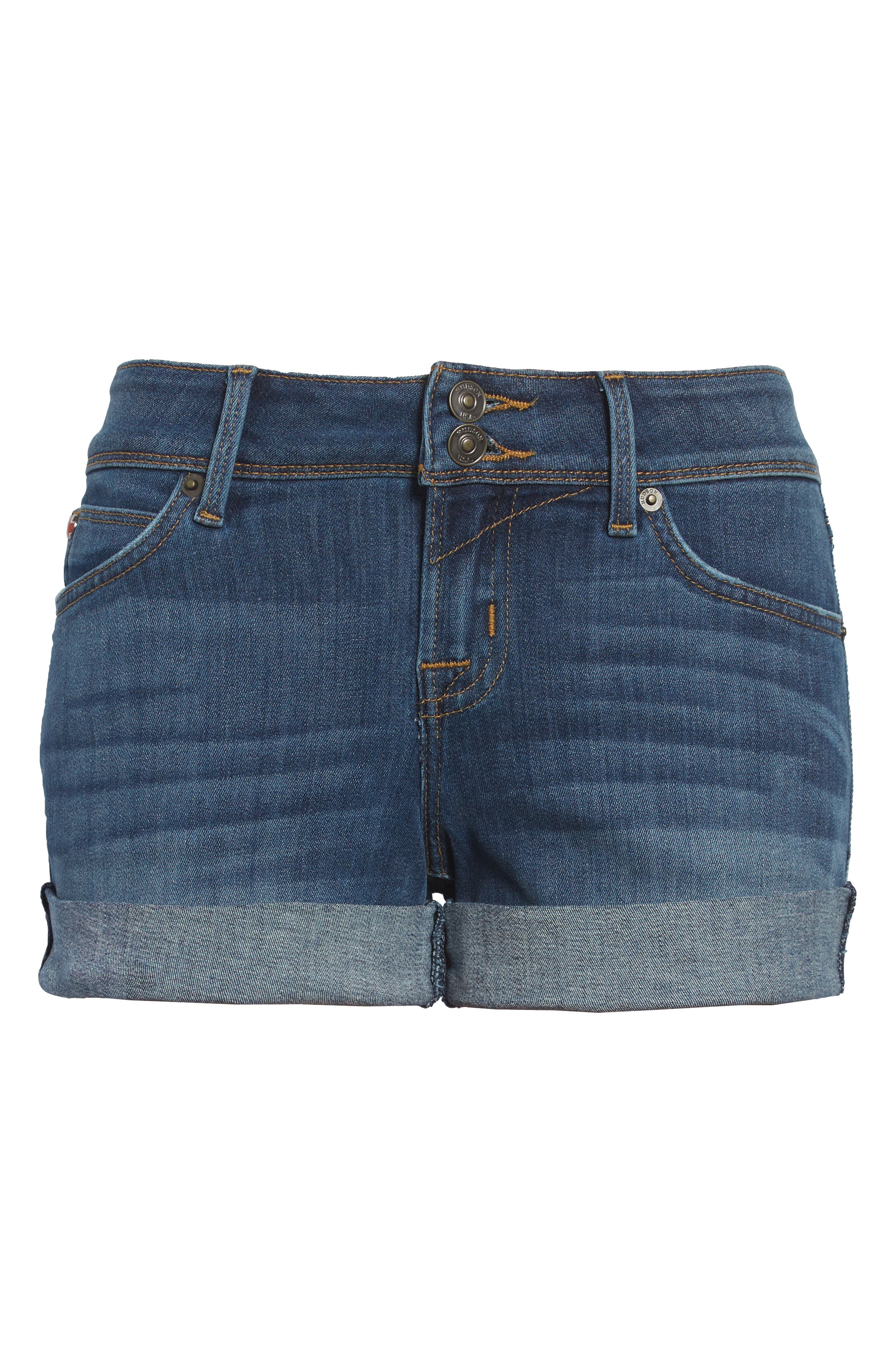 'Croxley' Cuffed Denim Shorts,                             Alternate thumbnail 7, color,