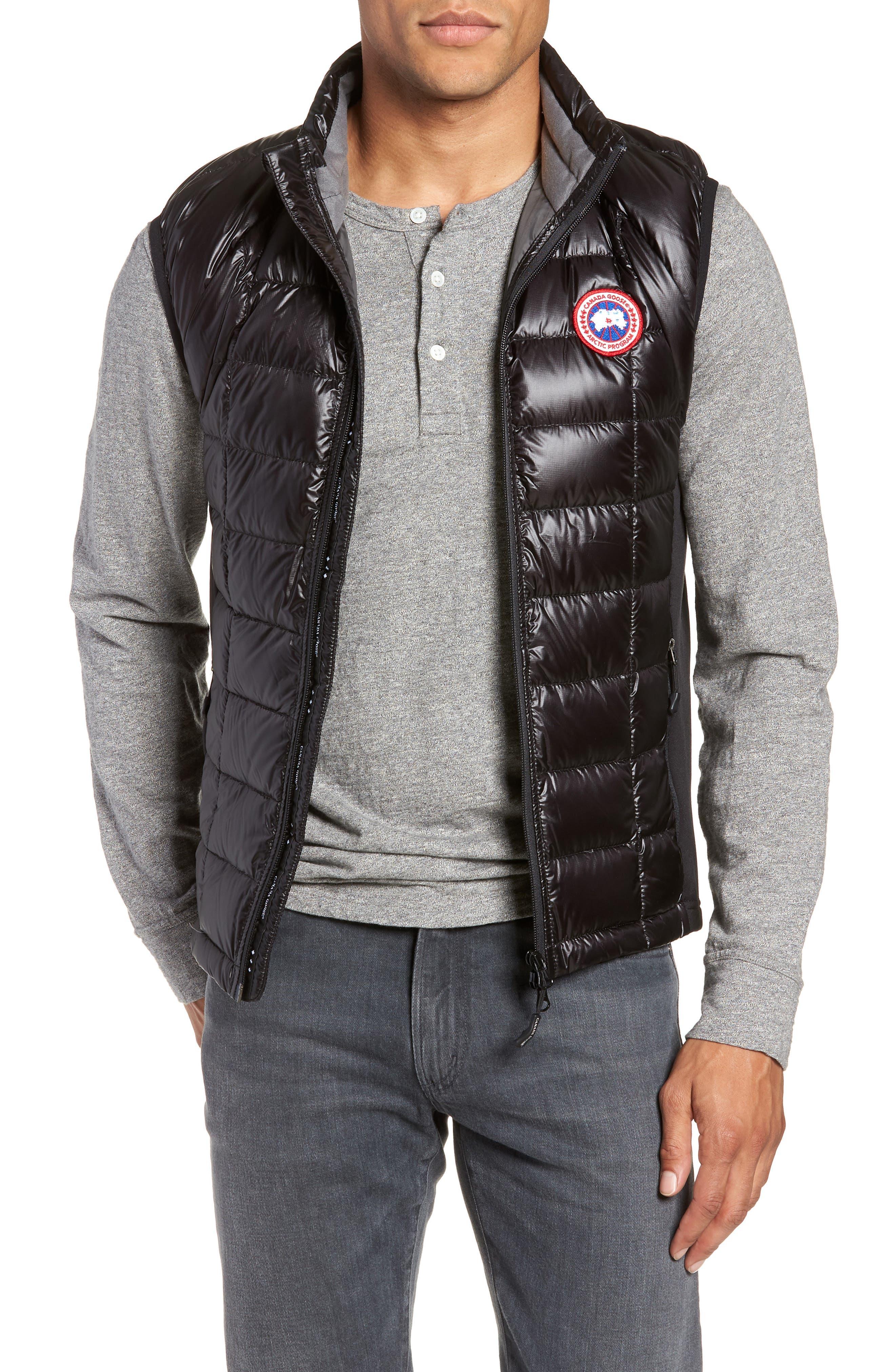 'Hybridge<sup>™</sup> Lite' Slim Fit Packable Quilted 800-Fill Down Vest,                         Main,                         color, BLACK/ GRAPHITE