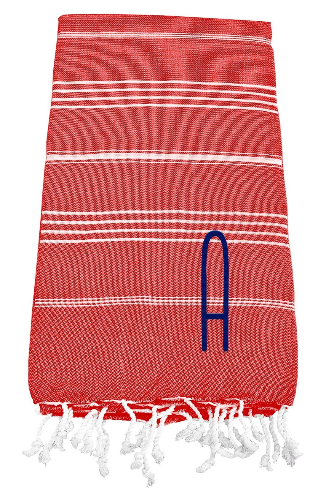 Monogram Turkish Cotton Towel,                             Main thumbnail 110, color,