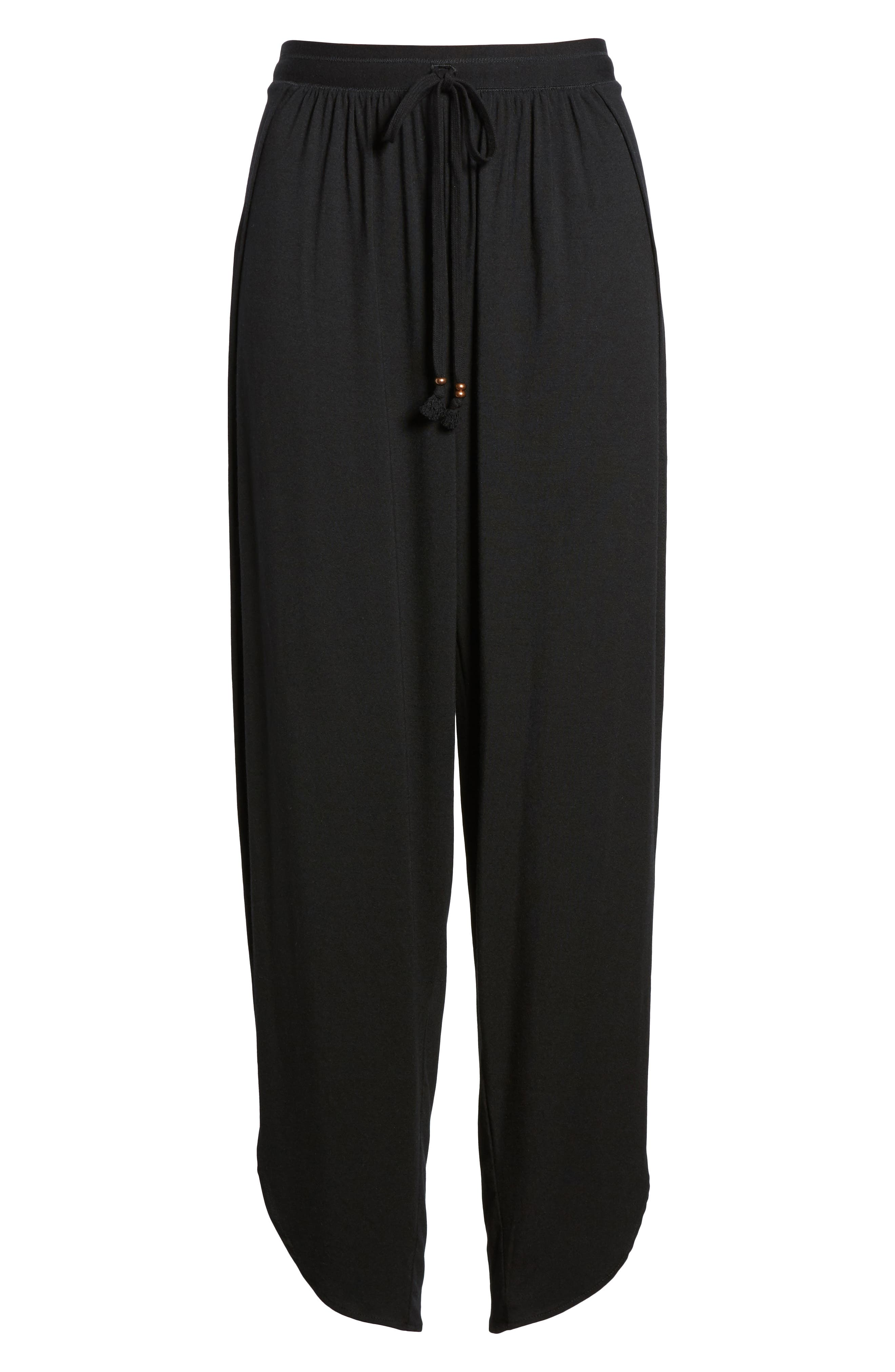 ROBIN PICCONE,                             Side Split Cover-Up Pants,                             Alternate thumbnail 7, color,                             BLACK