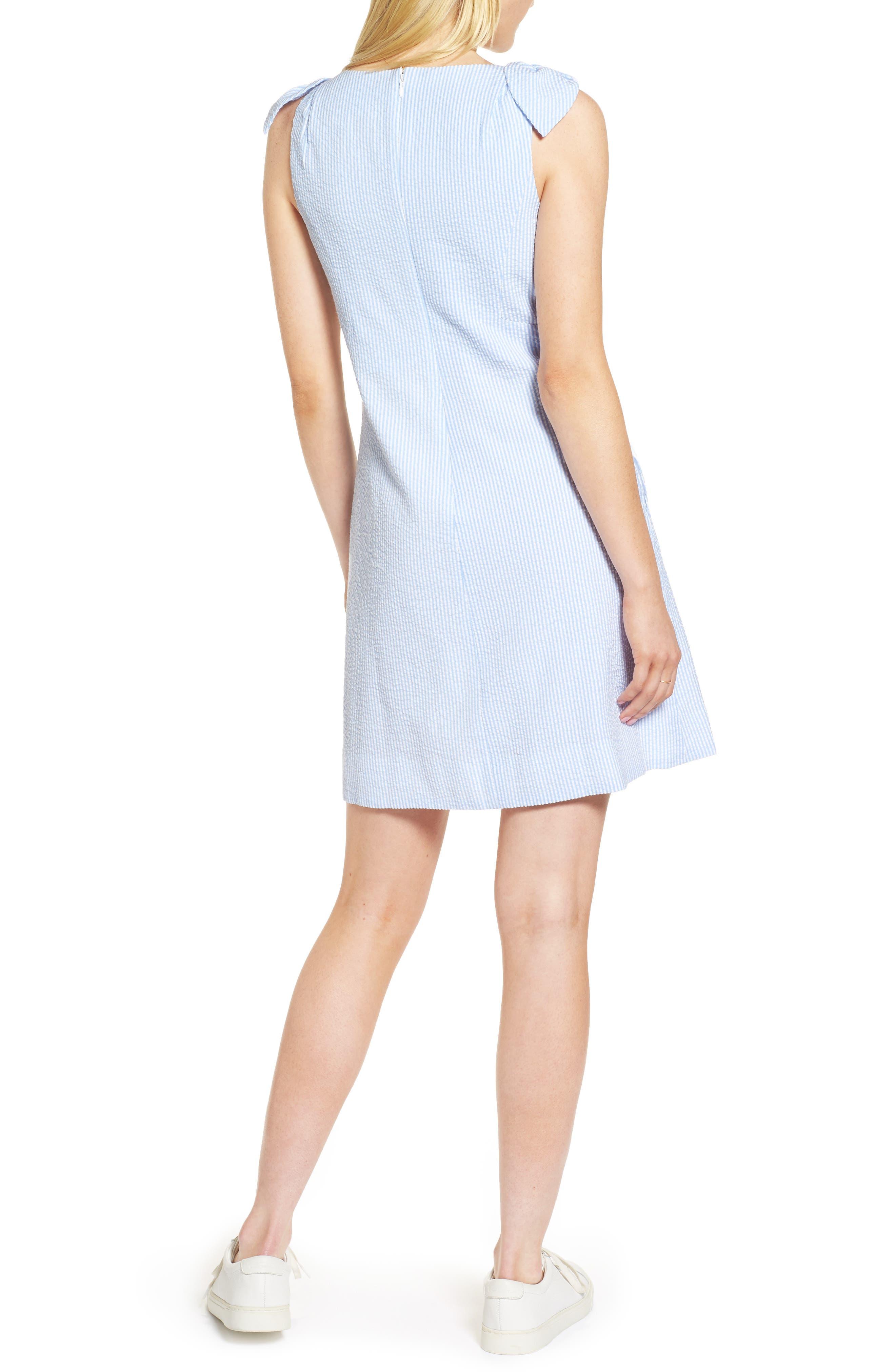 Bow Seersucker Dress,                             Alternate thumbnail 2, color,                             420