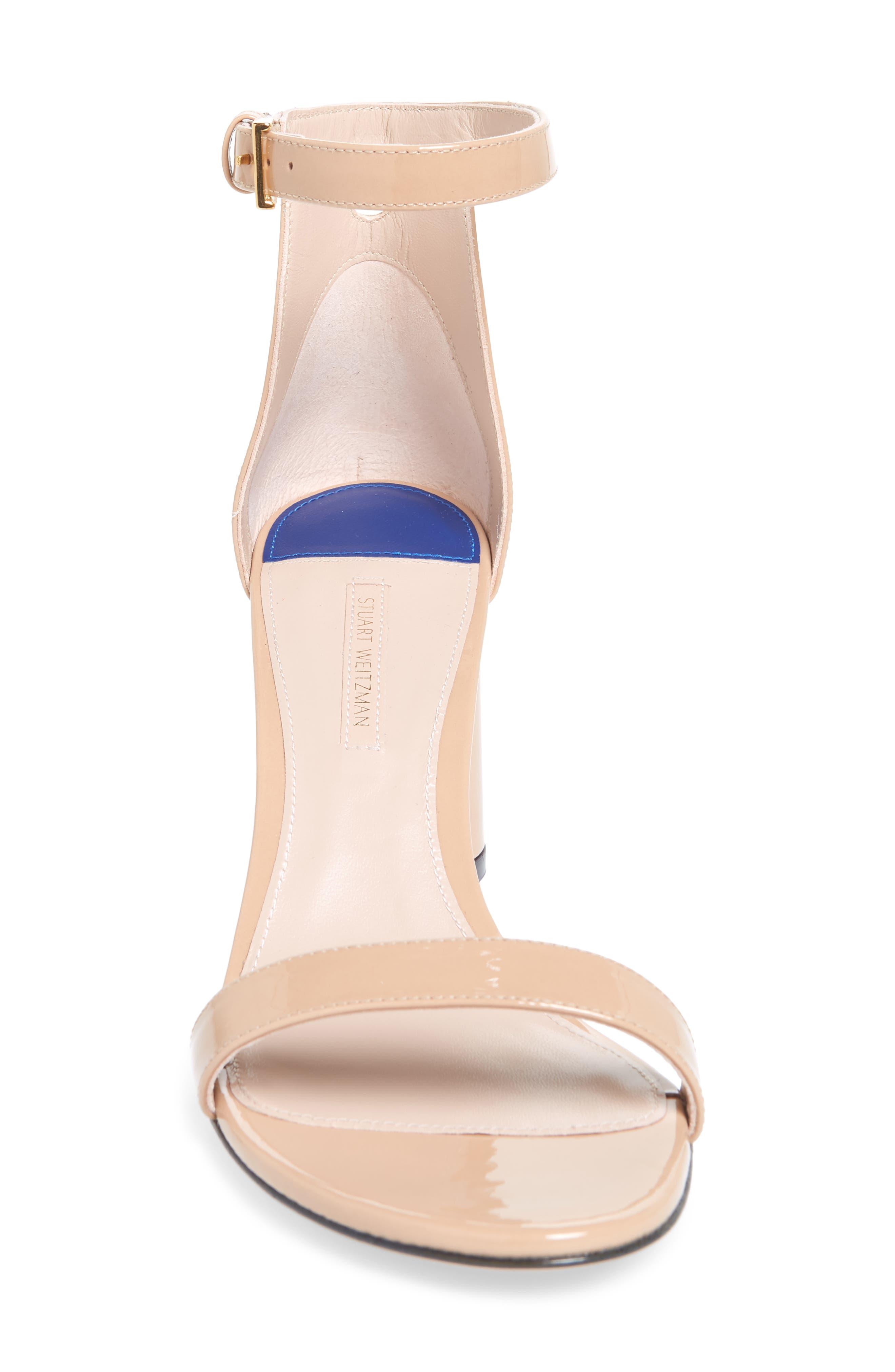 75LESSNUDIST Ankle Strap Sandal,                             Alternate thumbnail 4, color,                             ADOBE CRISTAL