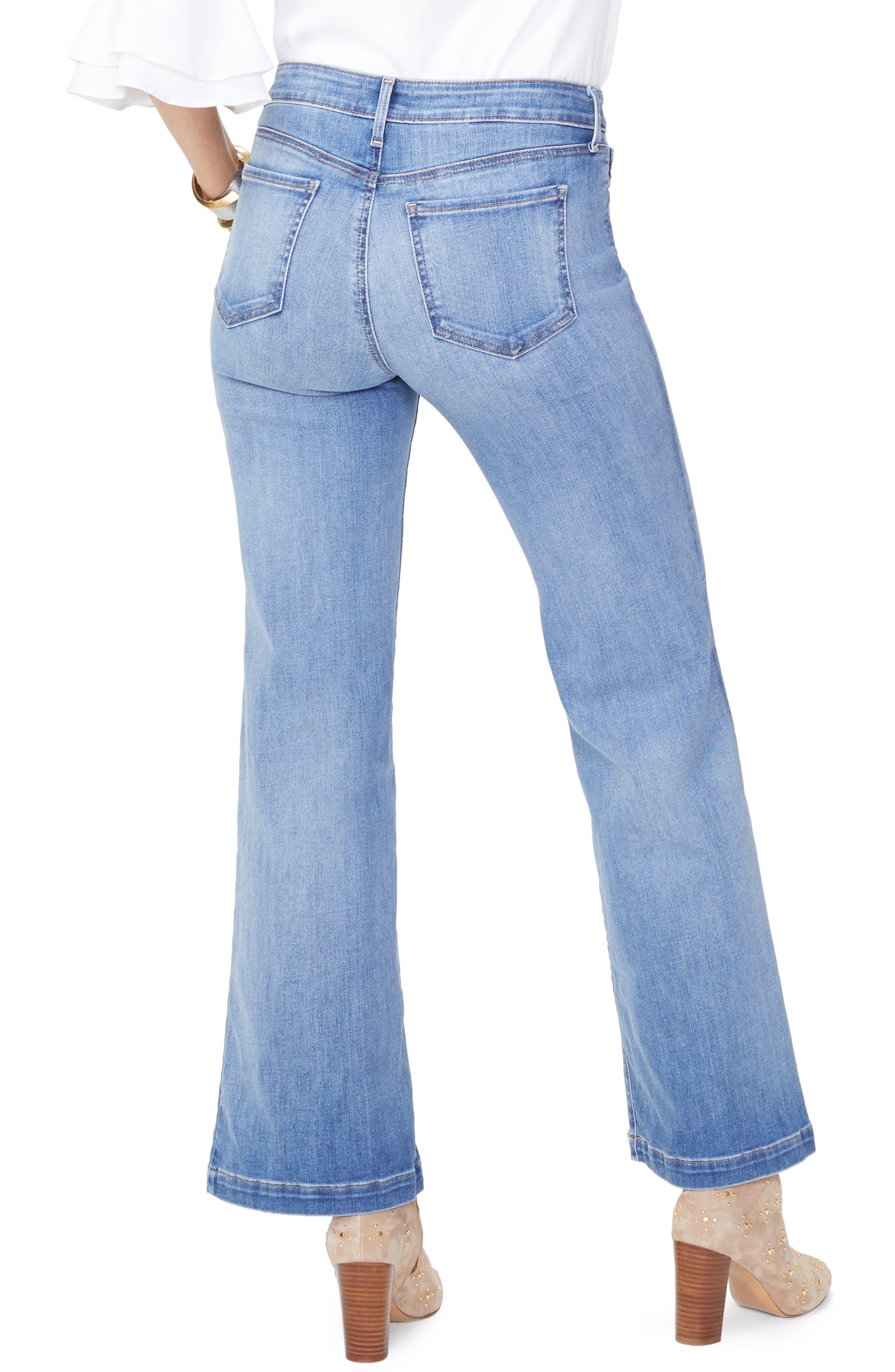 Wide Leg Clean Hem Jeans,                             Alternate thumbnail 2, color,                             CLEAN CABRILLO
