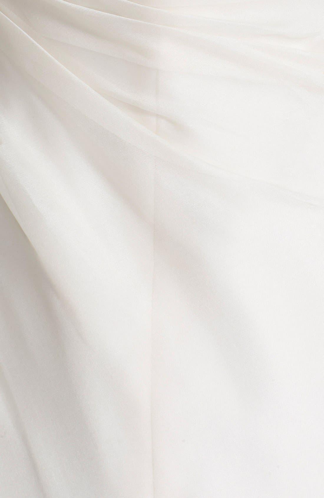 Strapless Silk Organza Mermaid Wedding Dress,                             Alternate thumbnail 4, color,