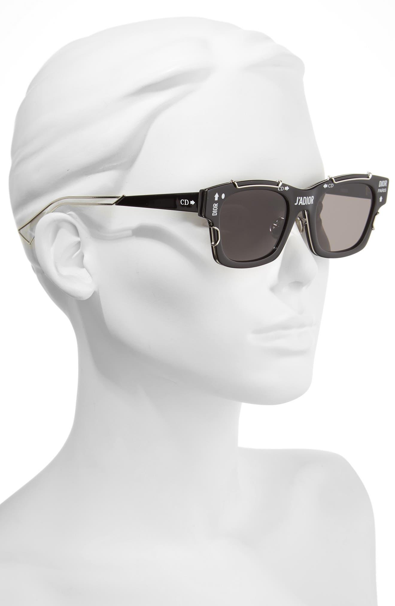 DIOR,                             J'Adior 51mm Sunglasses,                             Alternate thumbnail 2, color,                             001