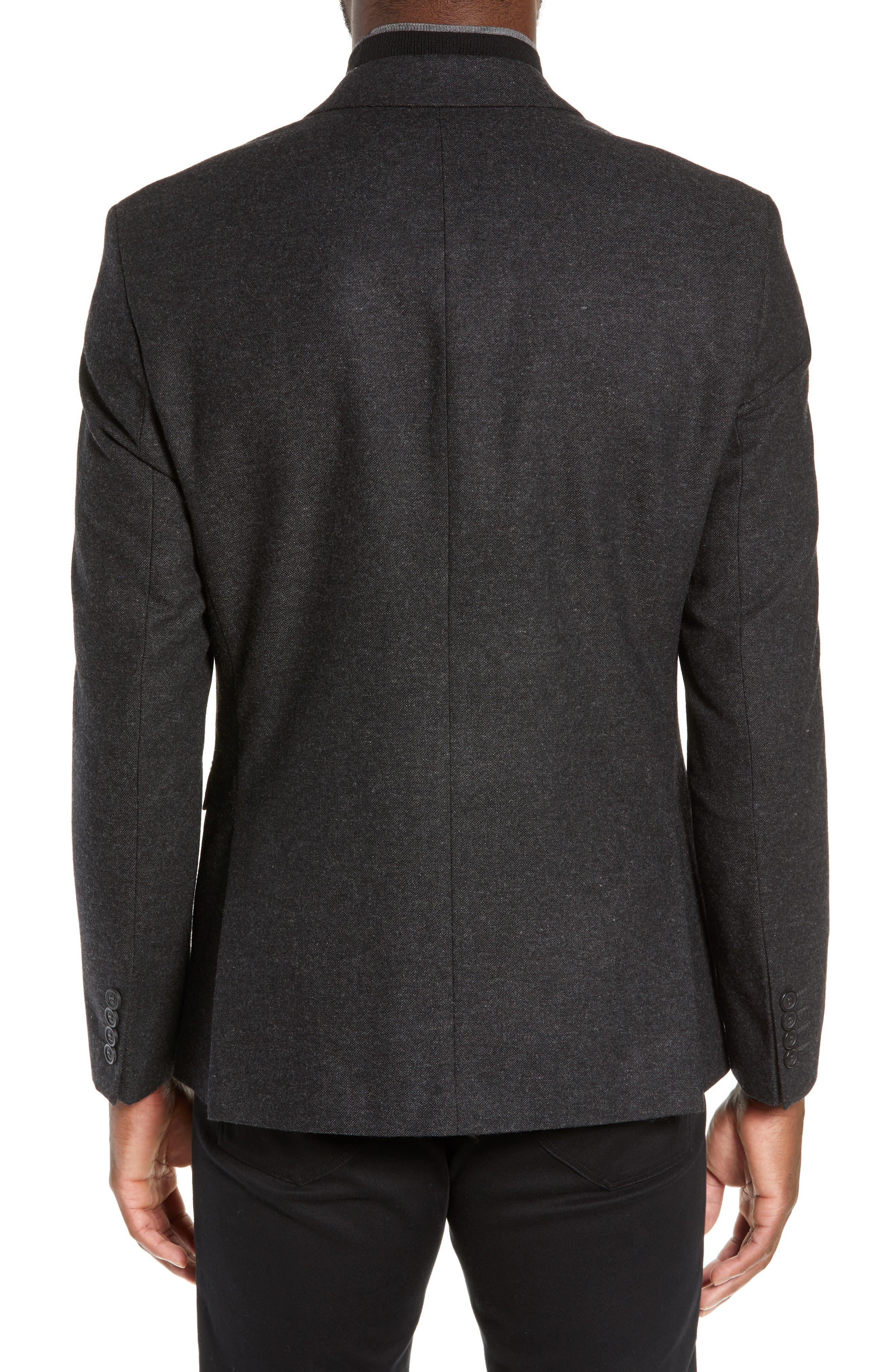 Slim Fit Myloiver Wool Blend Blazer,                             Alternate thumbnail 2, color,                             DARK GREY