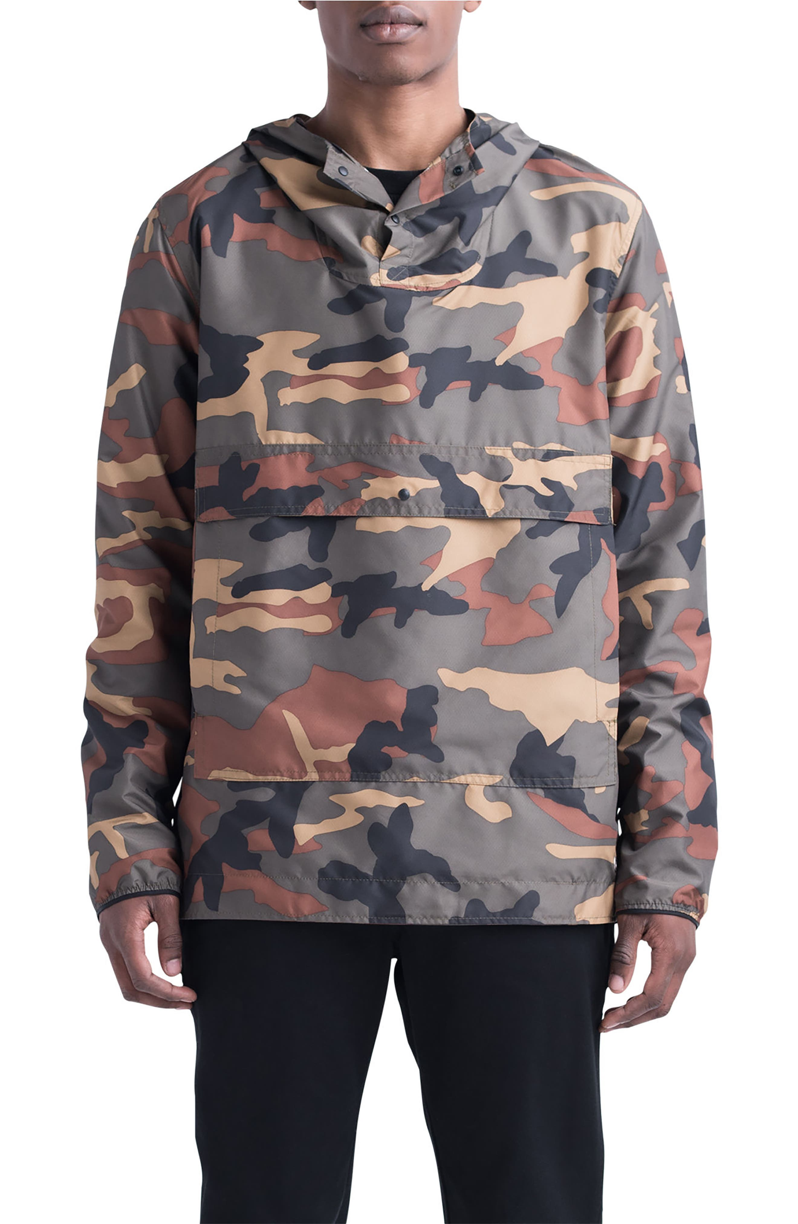 Voyage Anorak,                         Main,                         color, WOODLAND CAMO
