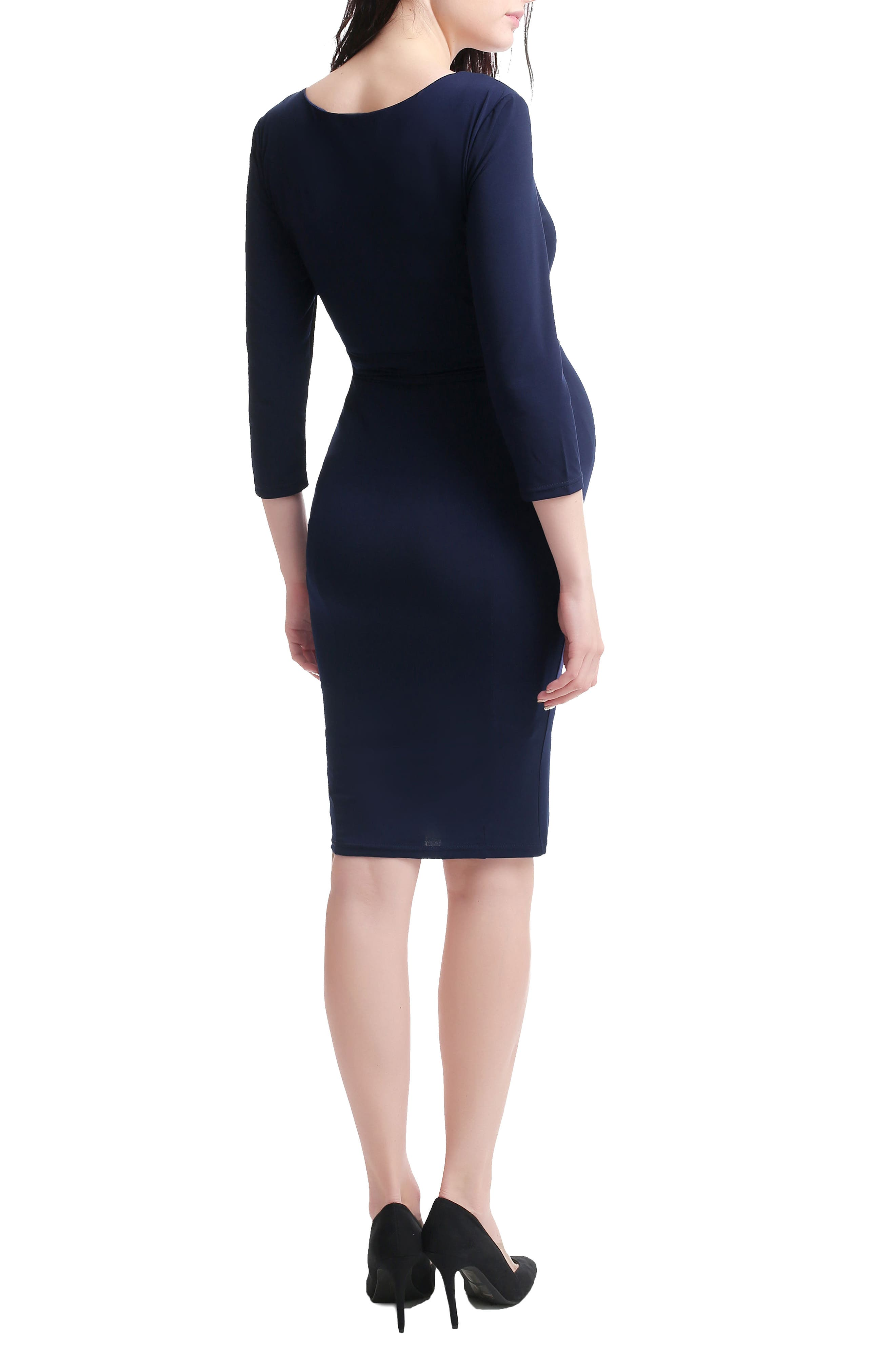 Penelope Maternity Dress,                             Alternate thumbnail 2, color,                             NAVY