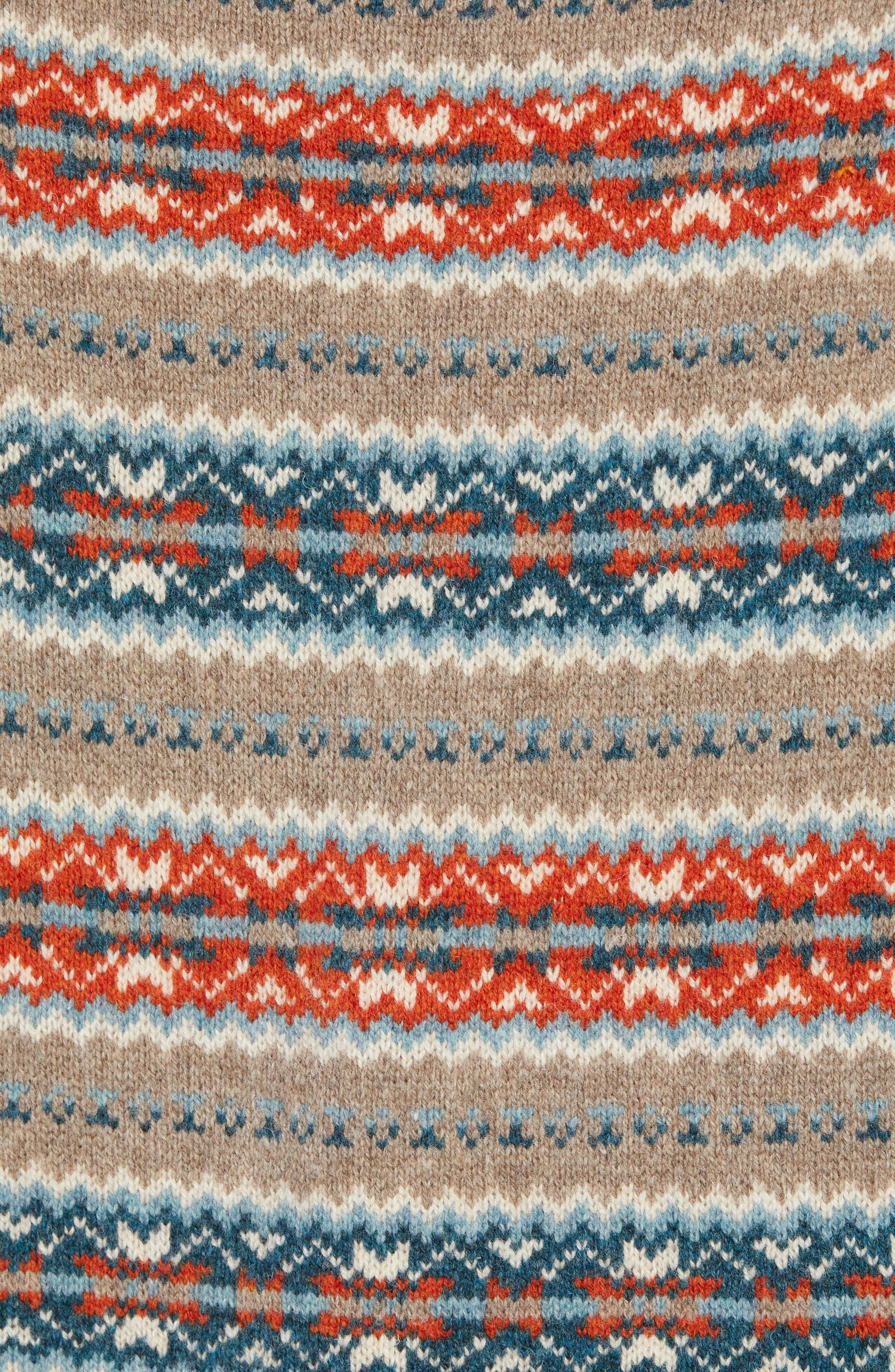 Fair Isle Lambswool Sweater,                             Alternate thumbnail 5, color,                             ASH