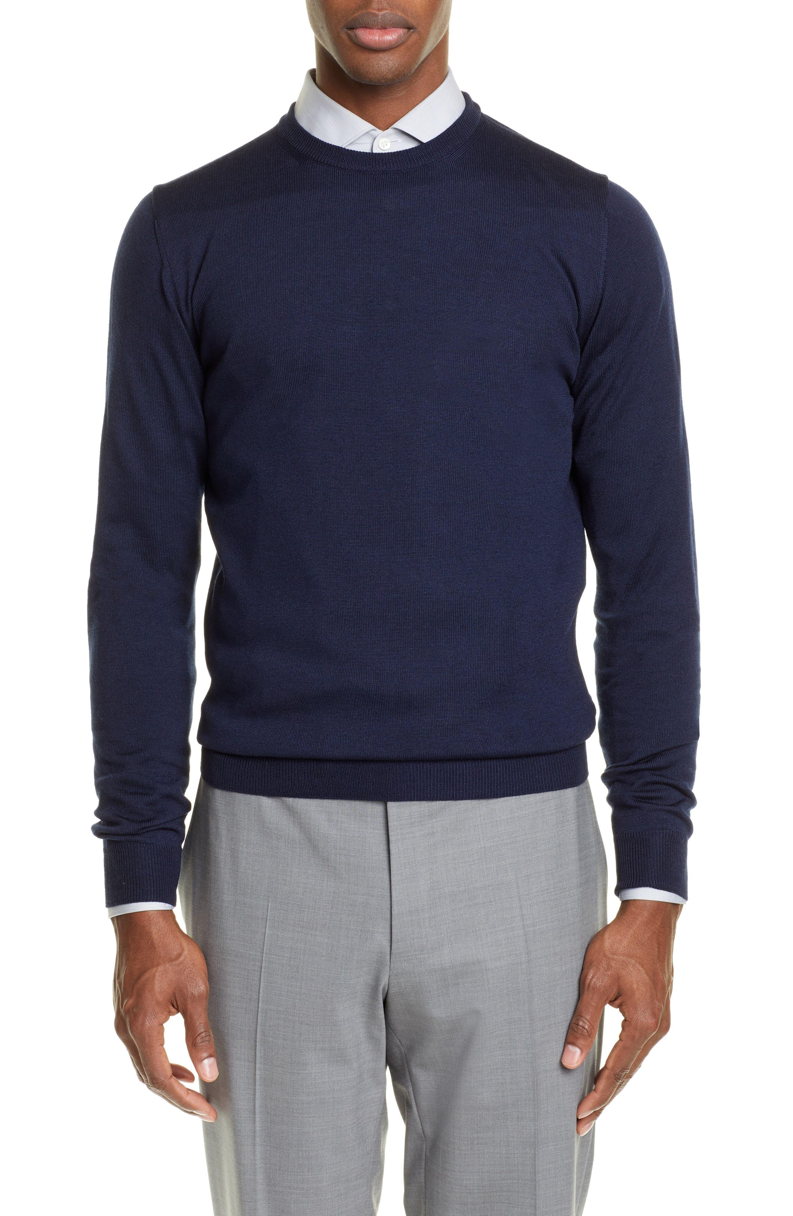 Editions Mr Stanislas Merino Wool Sweater, Blue