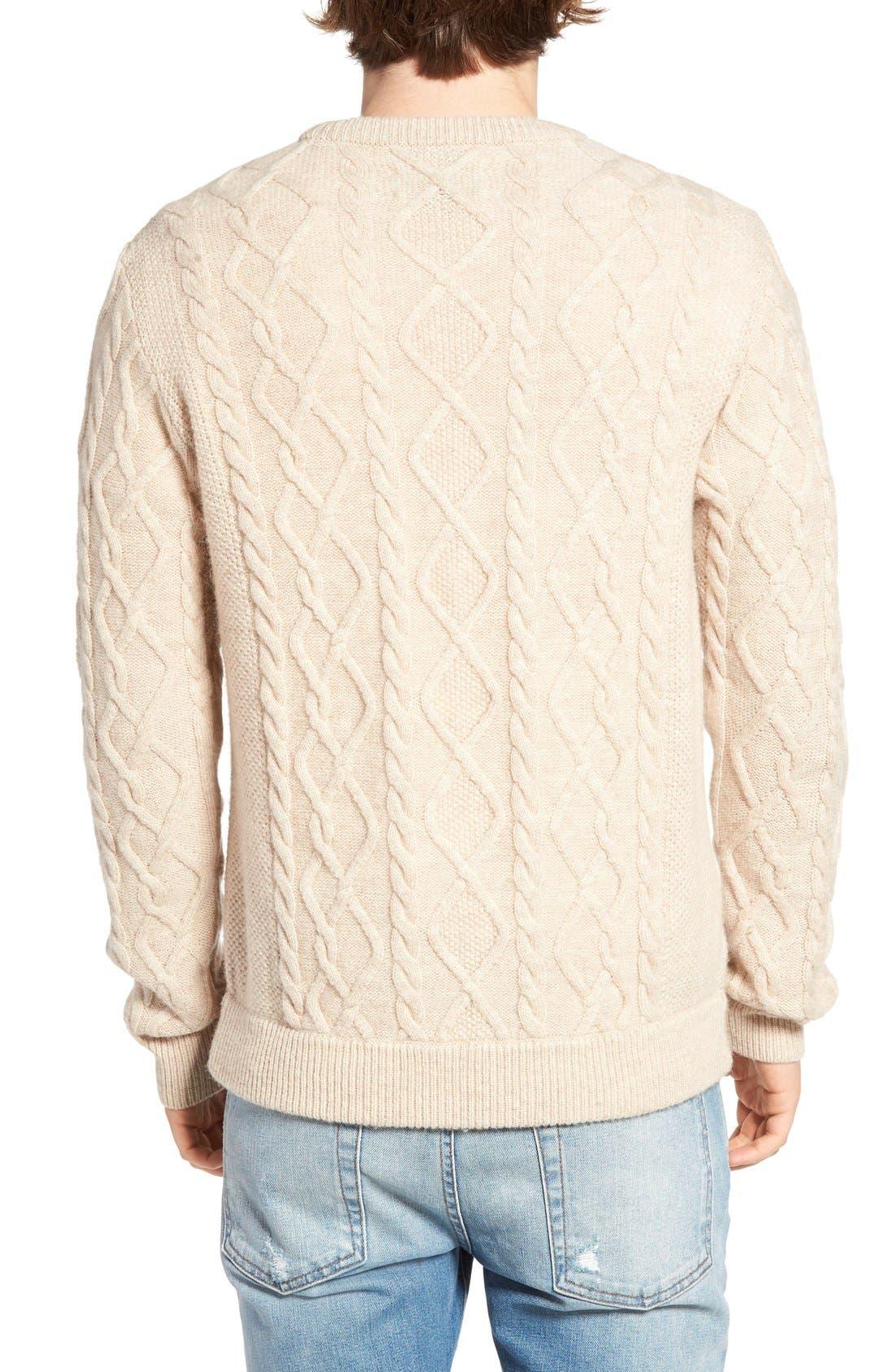 Fisherman Sweater,                             Alternate thumbnail 4, color,                             020