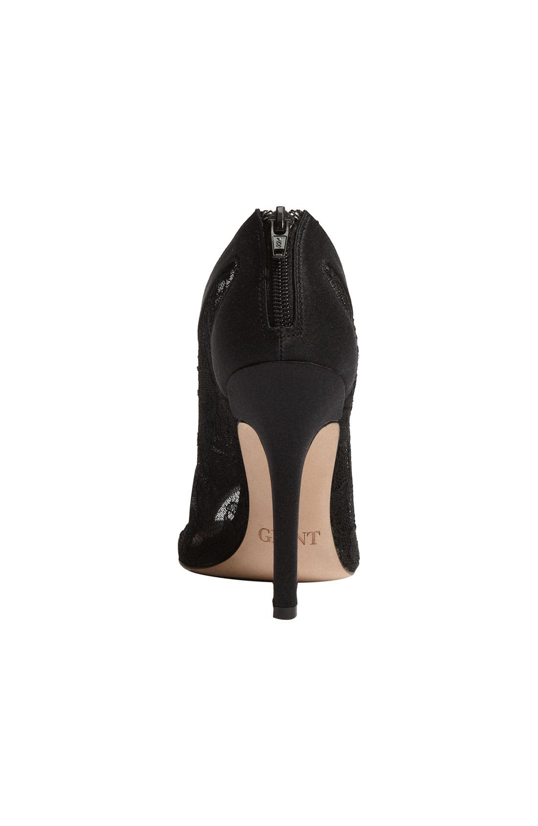 'Trio' Peep Toe Bootie,                             Alternate thumbnail 4, color,