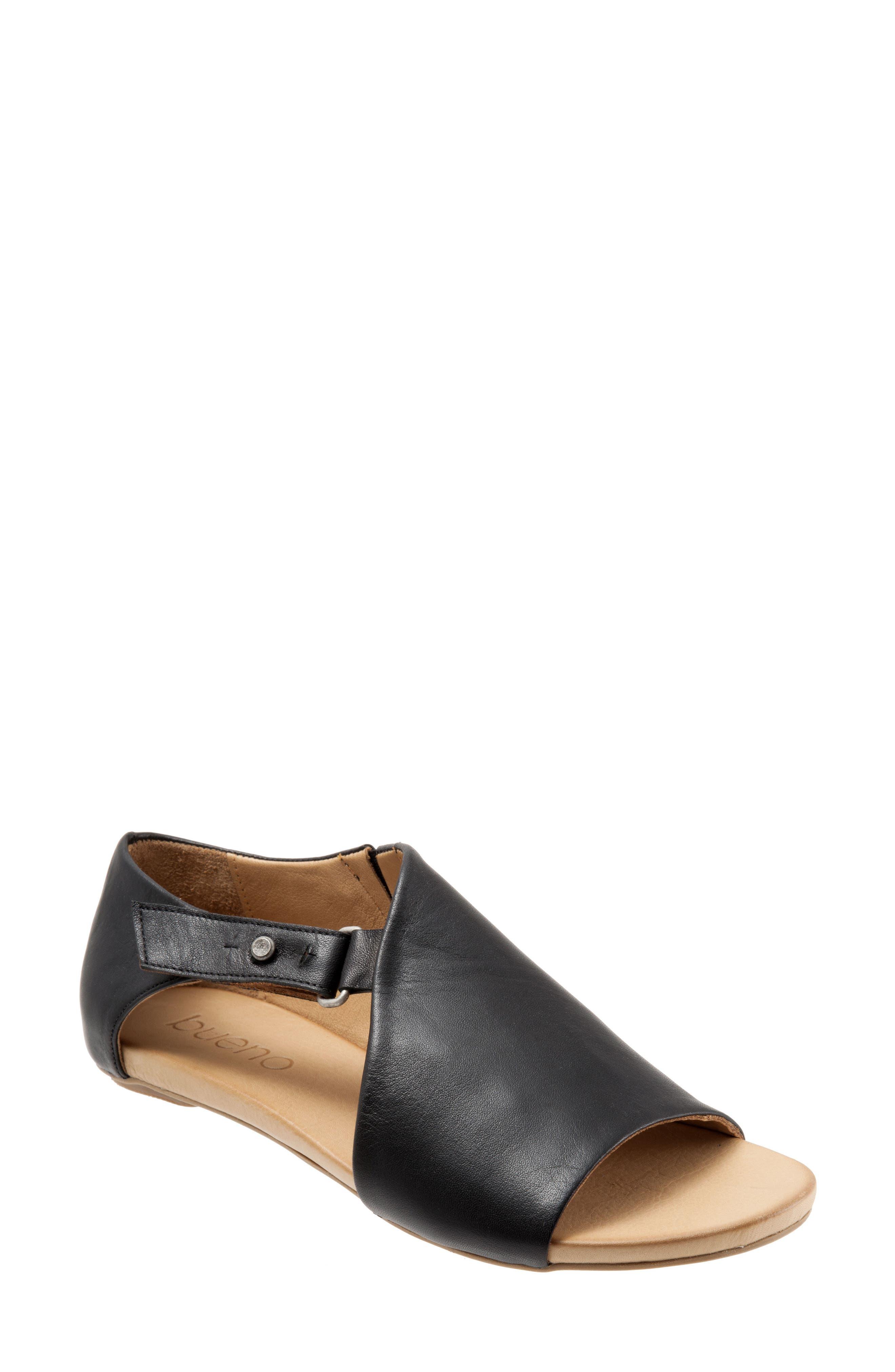 Kale Sandal,                         Main,                         color, BLACK LEATHER