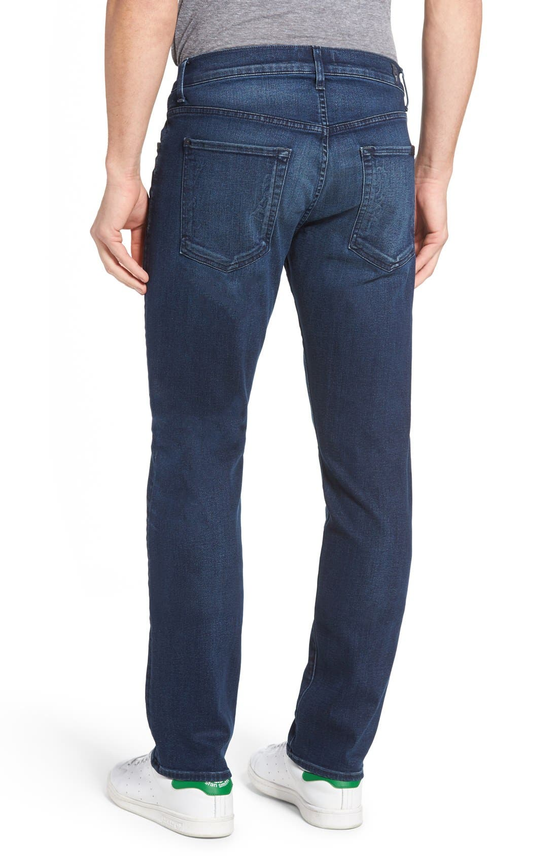 Slimmy Luxe Performance Slim Fit Jeans,                             Alternate thumbnail 3, color,                             402