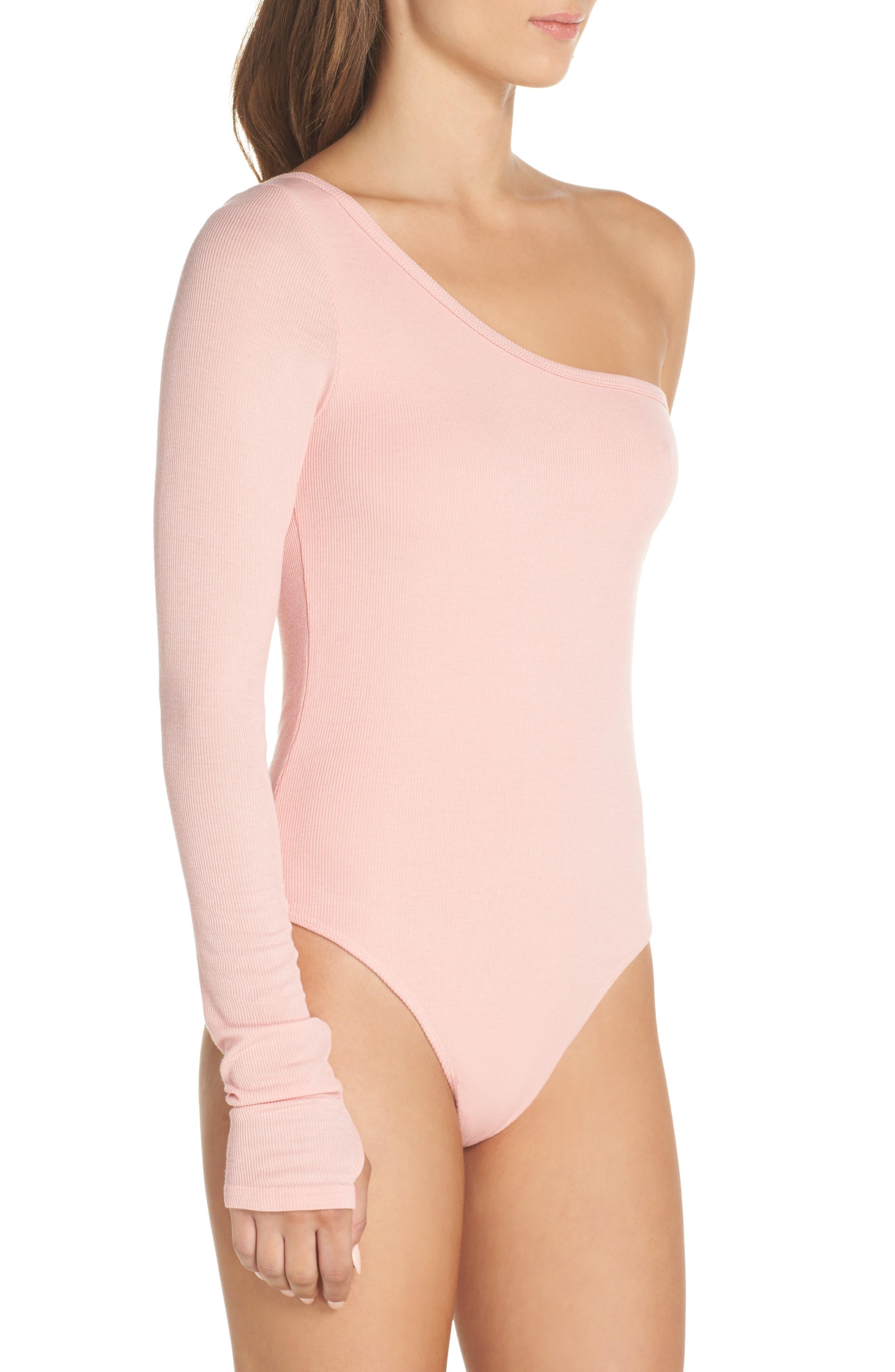 Sasha One-Shoulder Thong Bodysuit,                             Alternate thumbnail 6, color,
