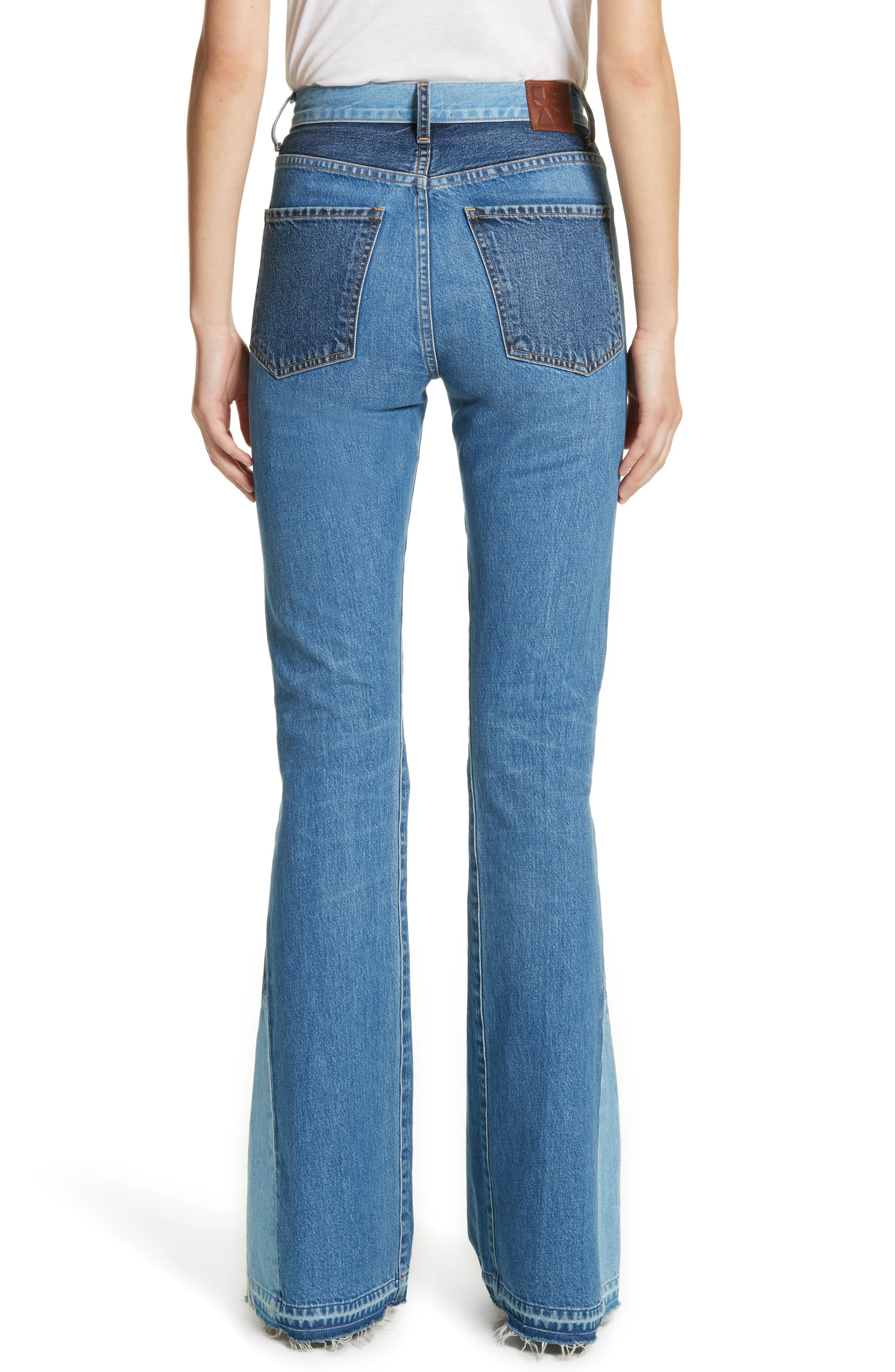 Janis High Rise Flare Jeans,                             Alternate thumbnail 2, color,                             JAGGER