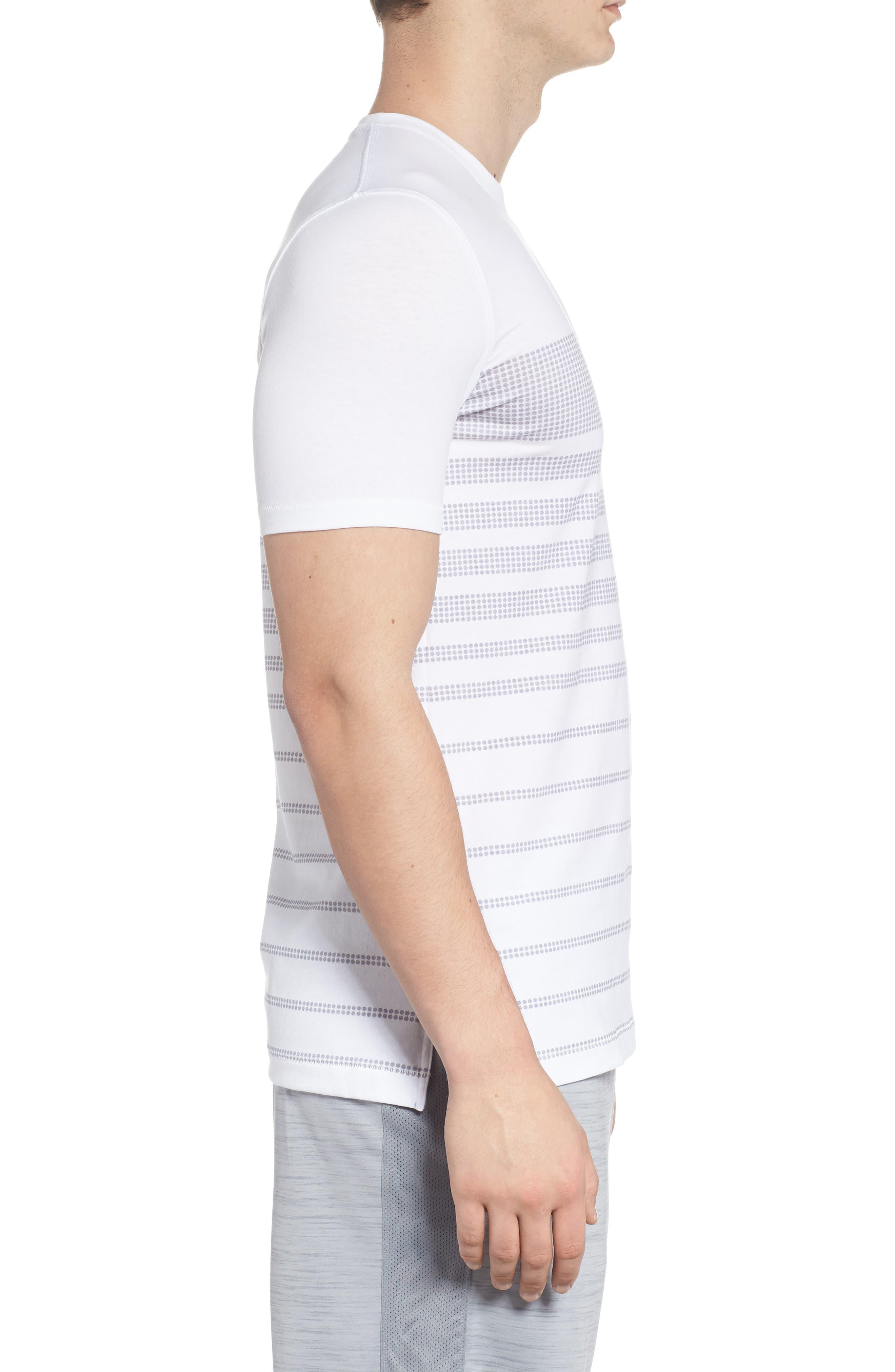 Sportstyle Crewneck T-Shirt,                             Alternate thumbnail 3, color,                             WHITE / OVERCAST GREH