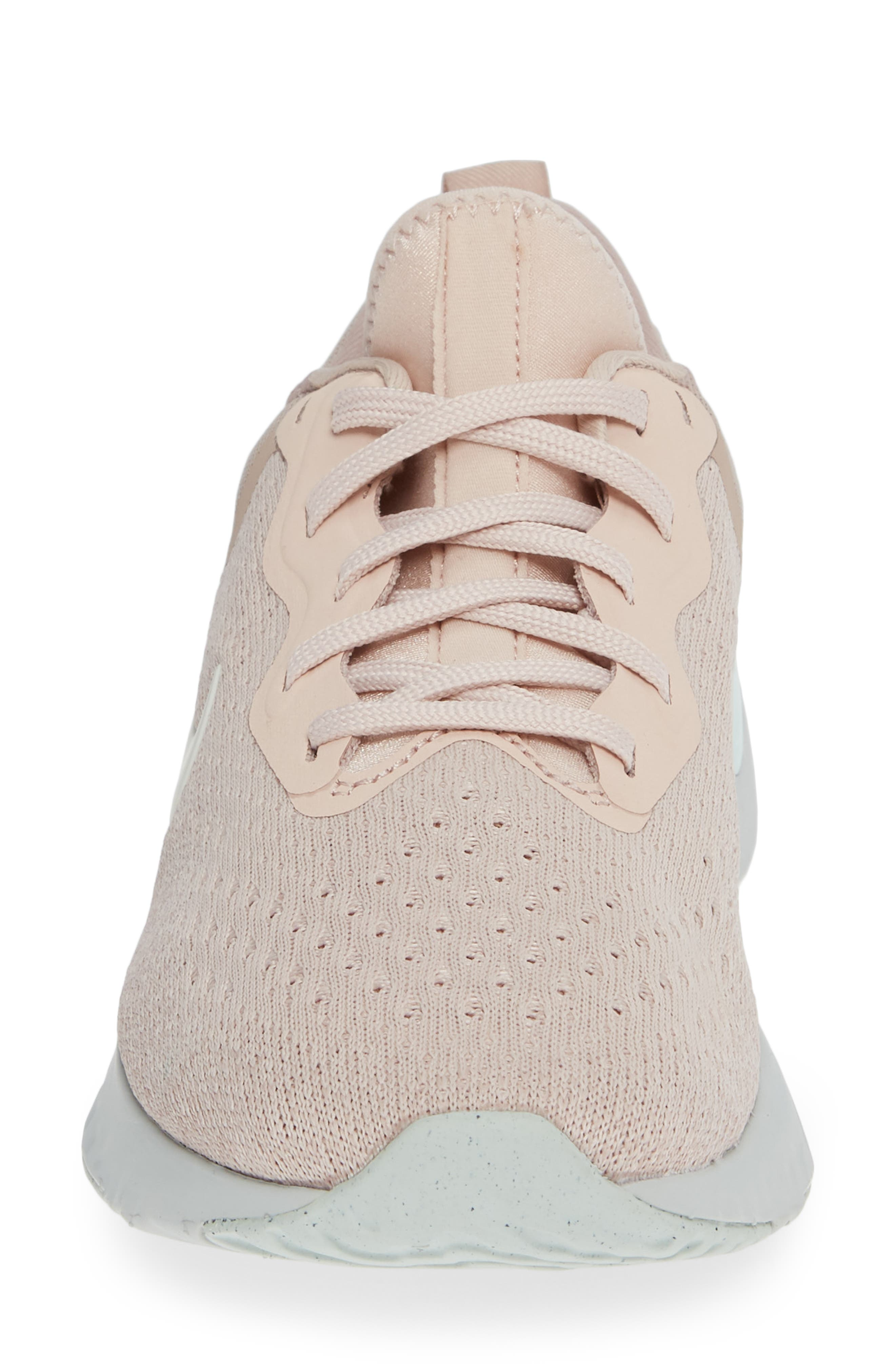 Odyssey React Running Shoe,                             Alternate thumbnail 4, color,                             BEIGE/ PHANTOM-DIFFUSED TAUPE