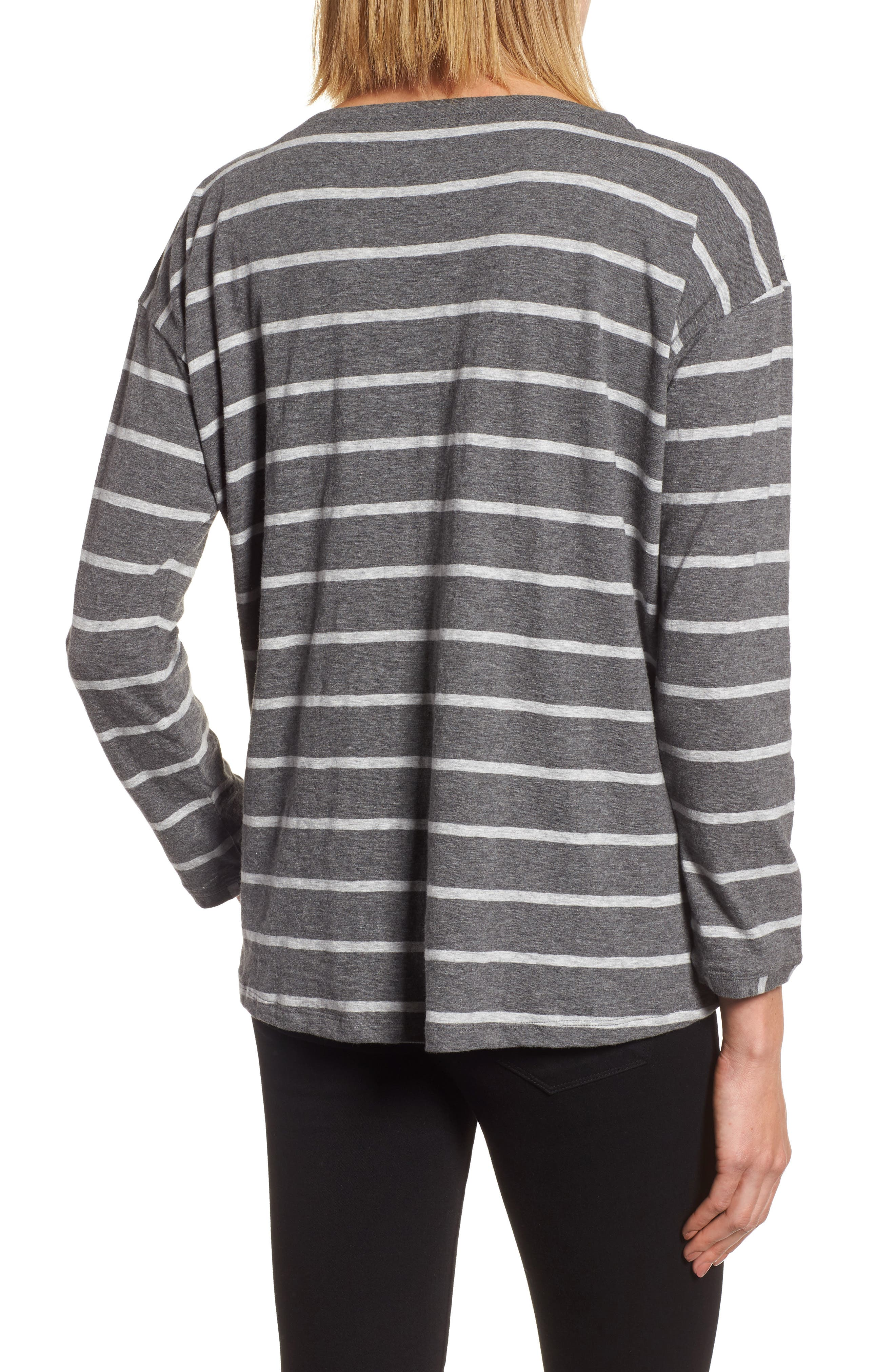 Stripe Organic Cotton Top,                             Alternate thumbnail 2, color,                             030