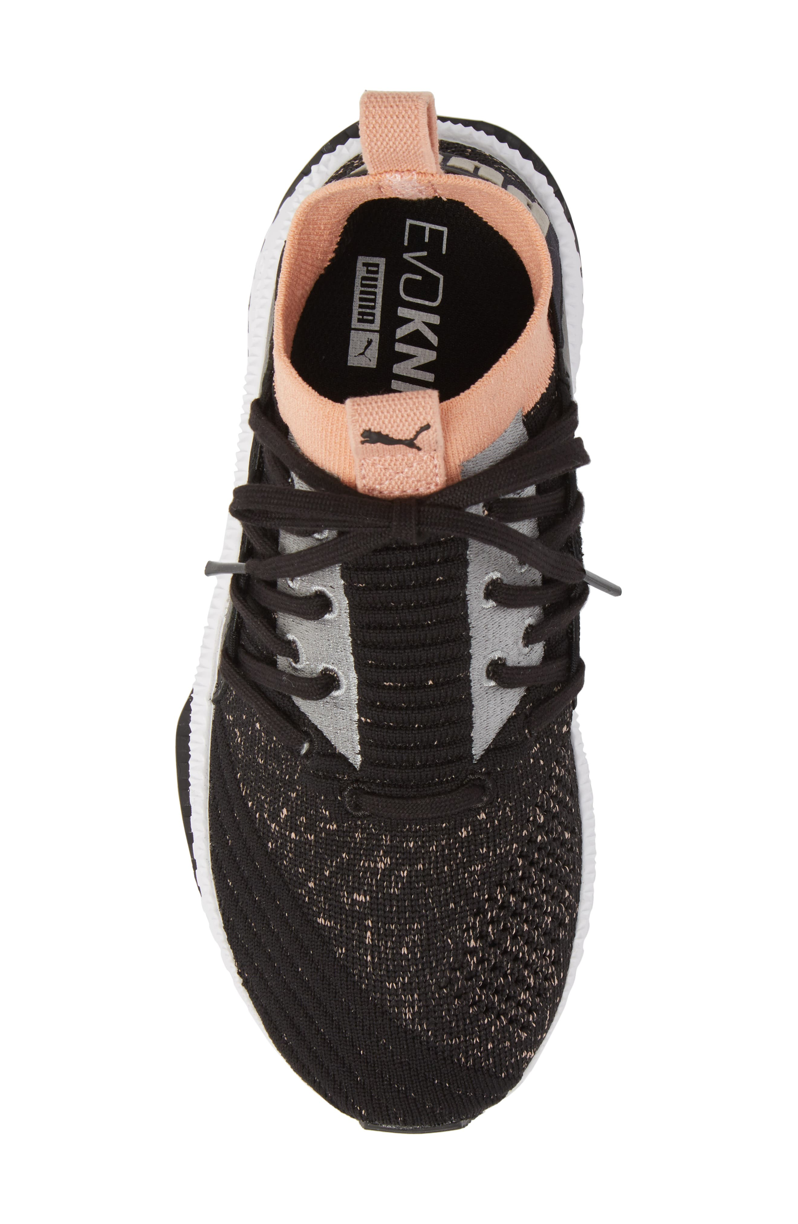 Tsugi Jun Knit Sneaker,                             Alternate thumbnail 5, color,                             001