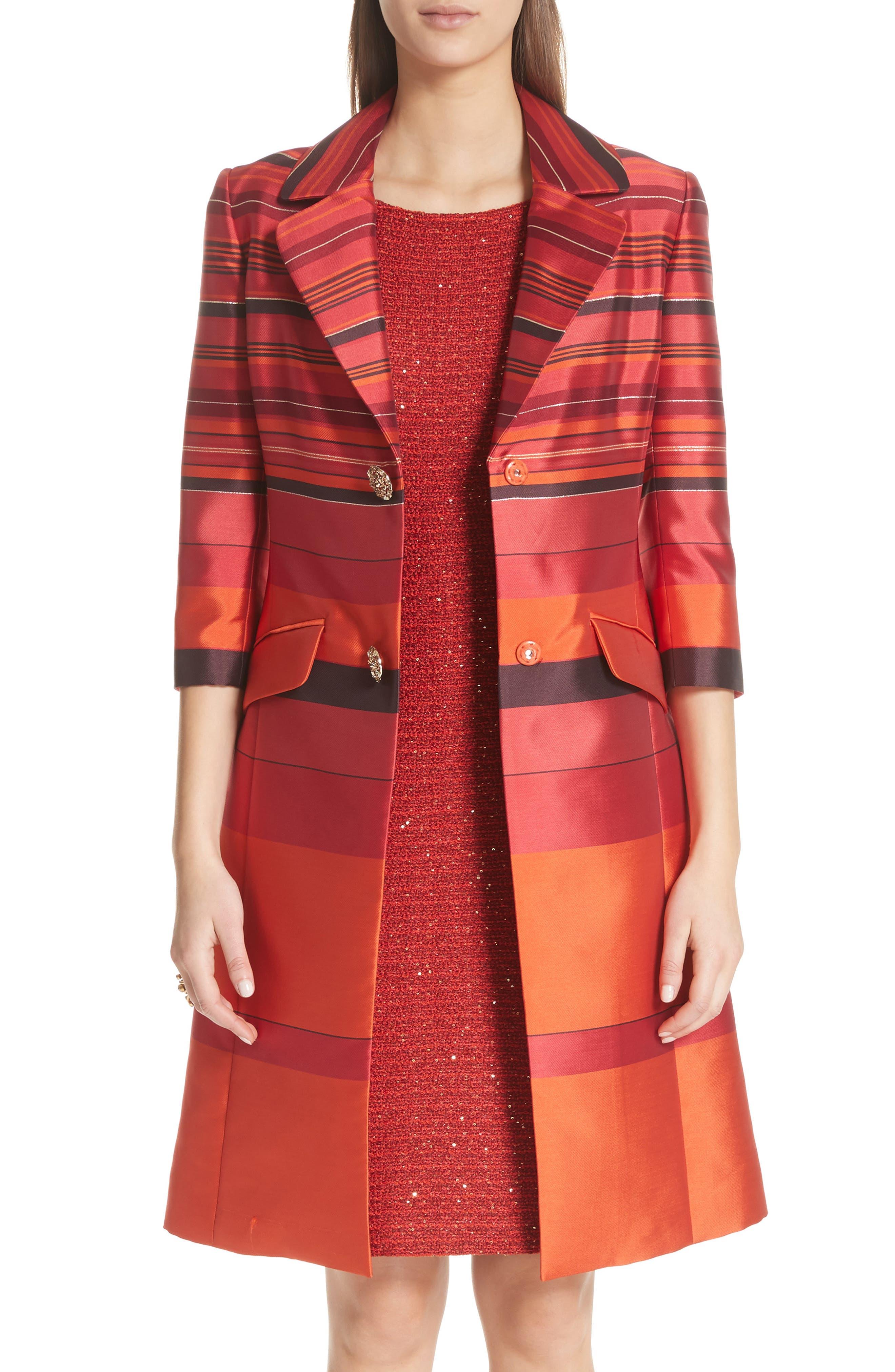 Metallic Stripe Jacquard Jacket,                             Main thumbnail 1, color,                             SIENNA MULTI