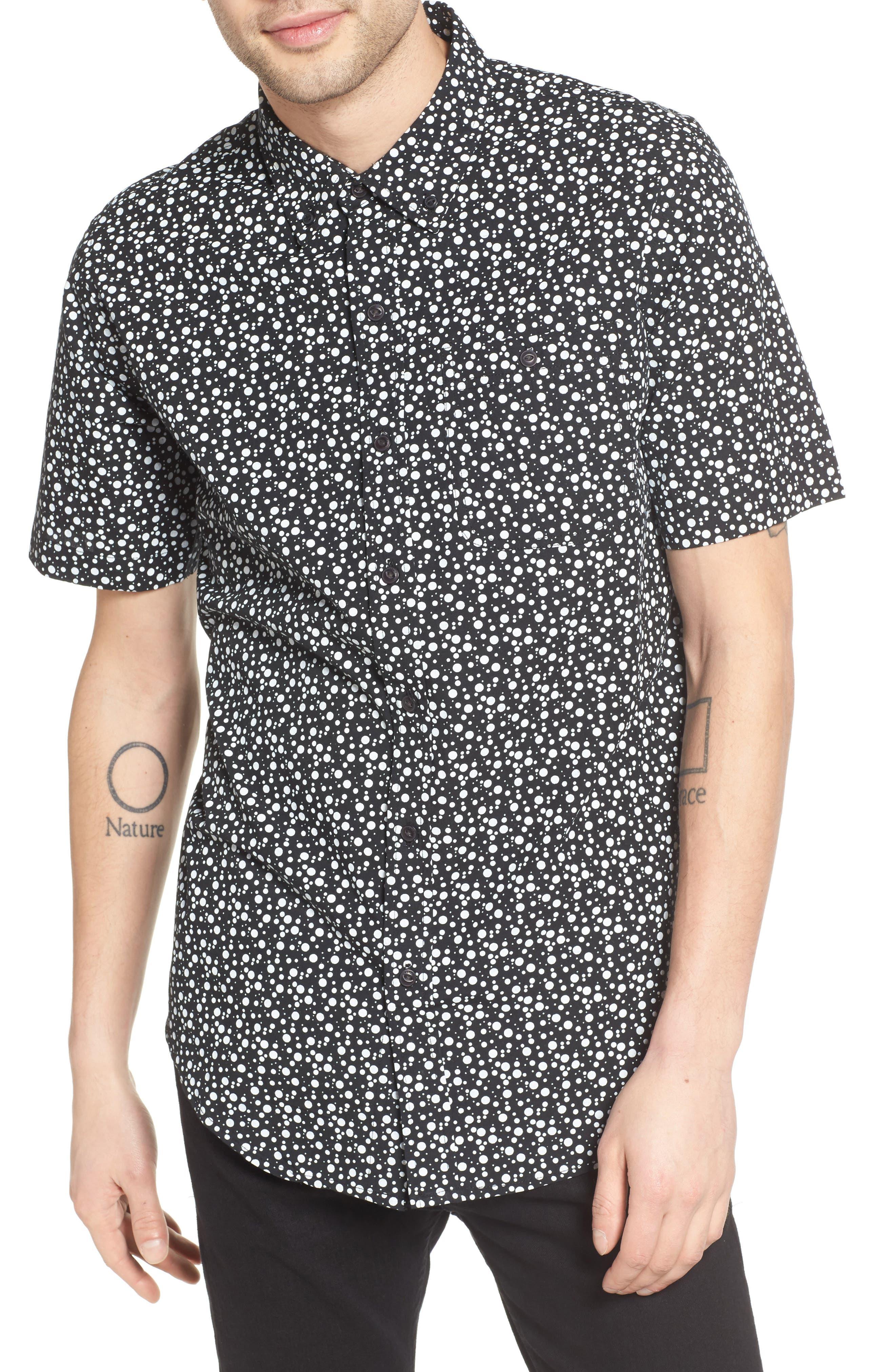 Bubble Print Woven Shirt,                             Main thumbnail 1, color,
