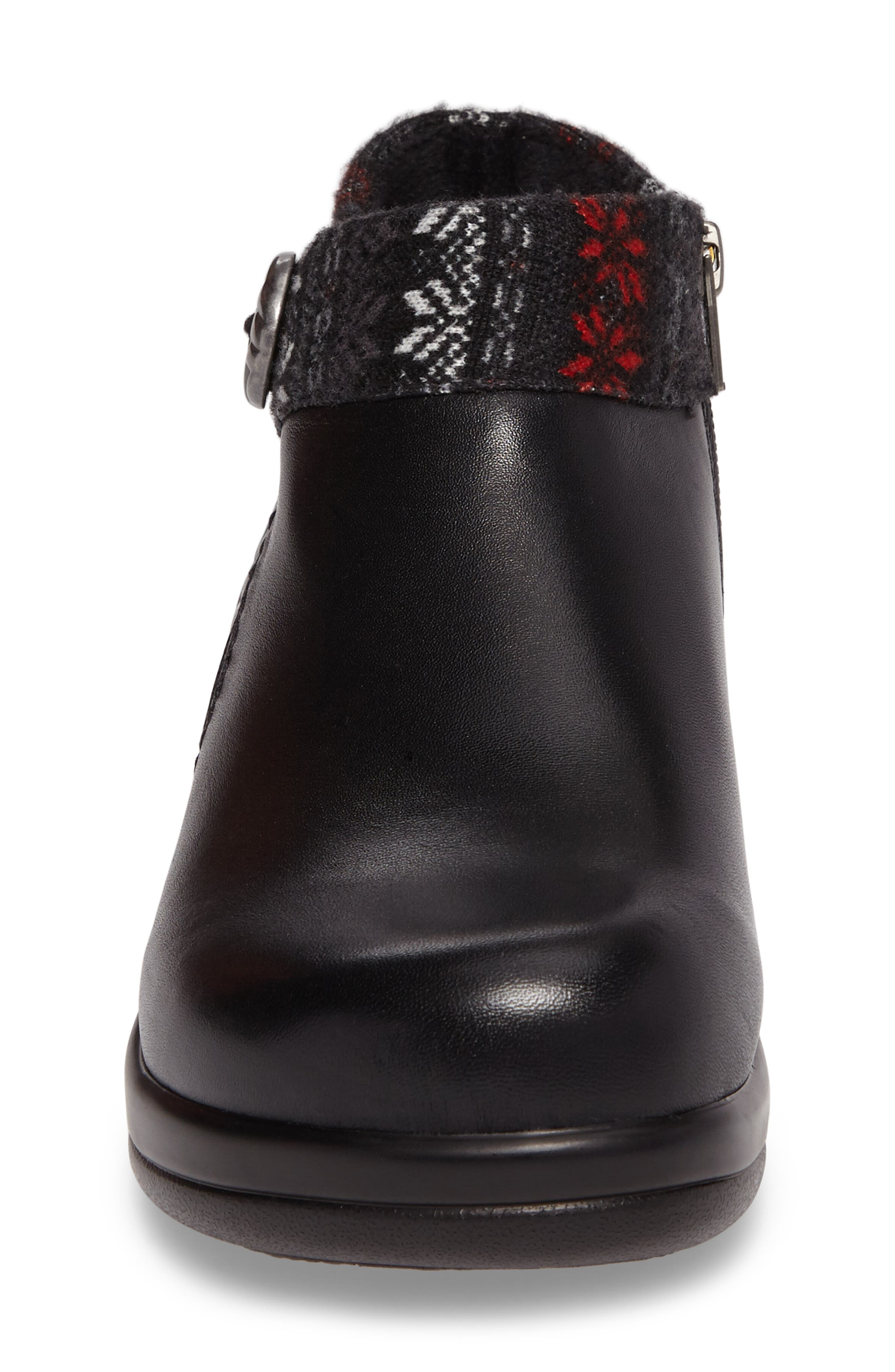Sitka Knit Collar Bootie,                             Alternate thumbnail 4, color,                             002