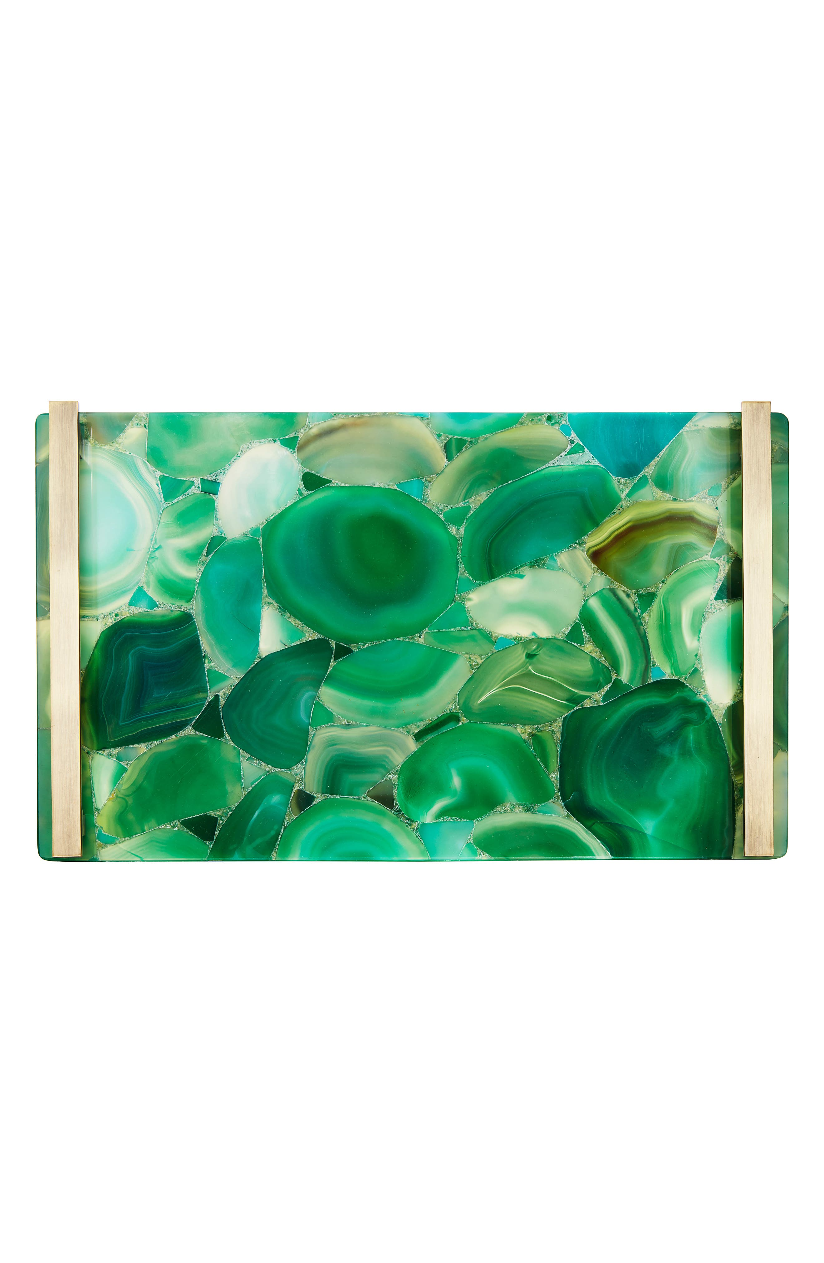 Stone Slab Tray,                             Alternate thumbnail 2, color,                             GREEN BANDED AGATE