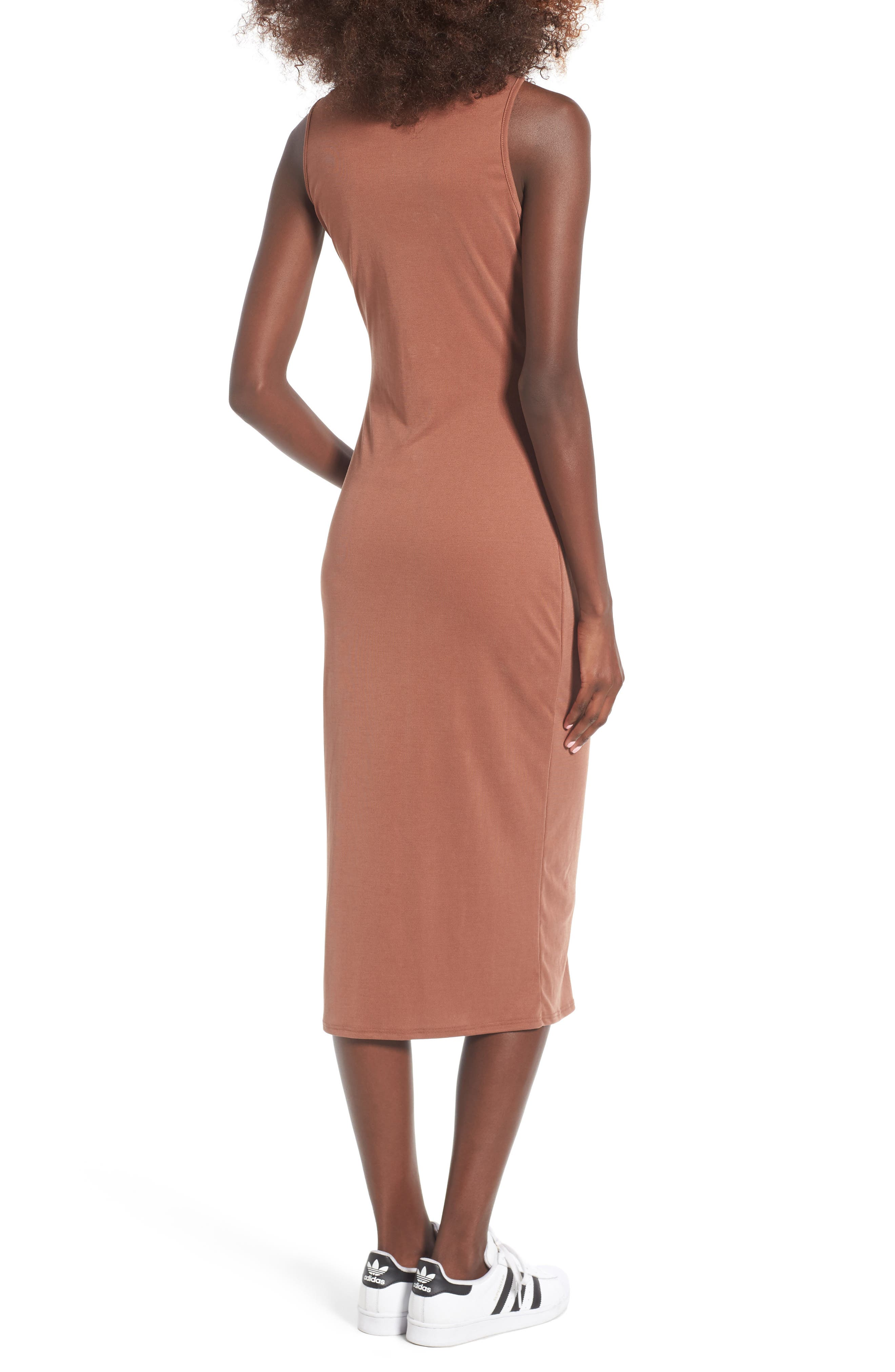 Snap Front Midi Dress,                             Alternate thumbnail 8, color,