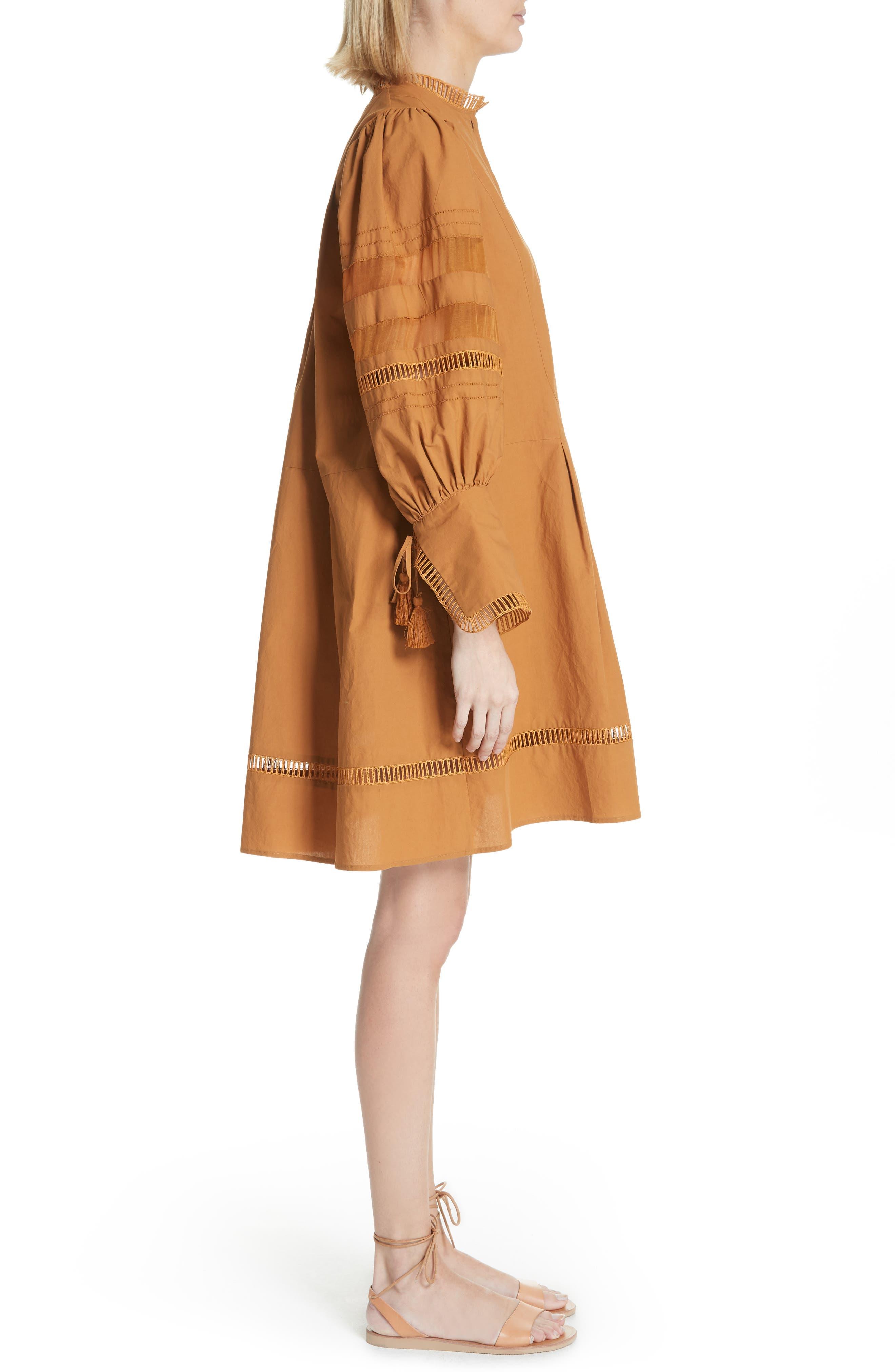 Capri Ladder Stitch Trim Dress,                             Alternate thumbnail 3, color,                             205