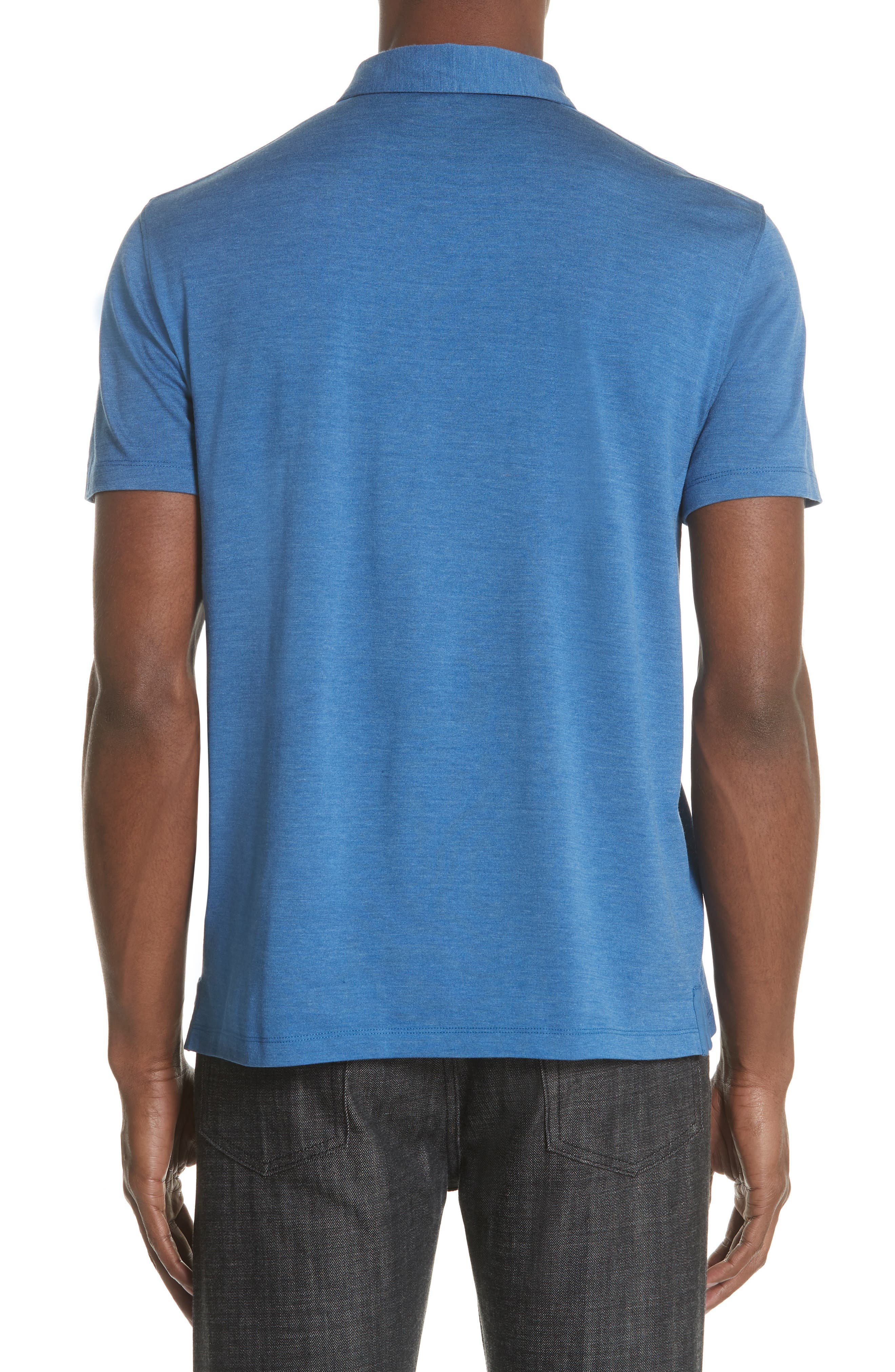 Hampton Silk Blend Jersey Polo,                             Alternate thumbnail 2, color,                             DUTCH BLUE