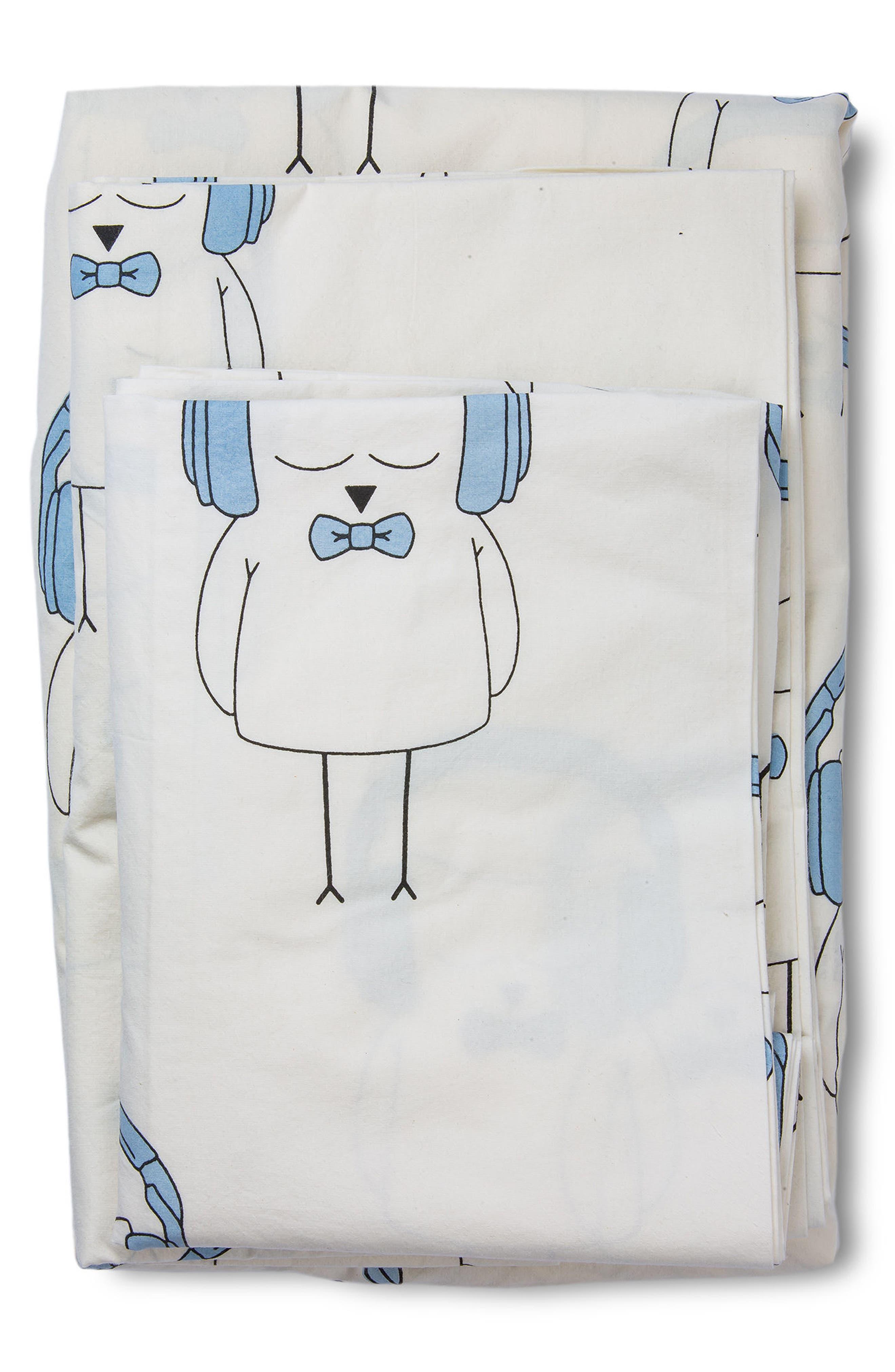 LIL' PYAR,                             Ollie Twin Sheet & Pillowcase Set,                             Main thumbnail 1, color,                             459