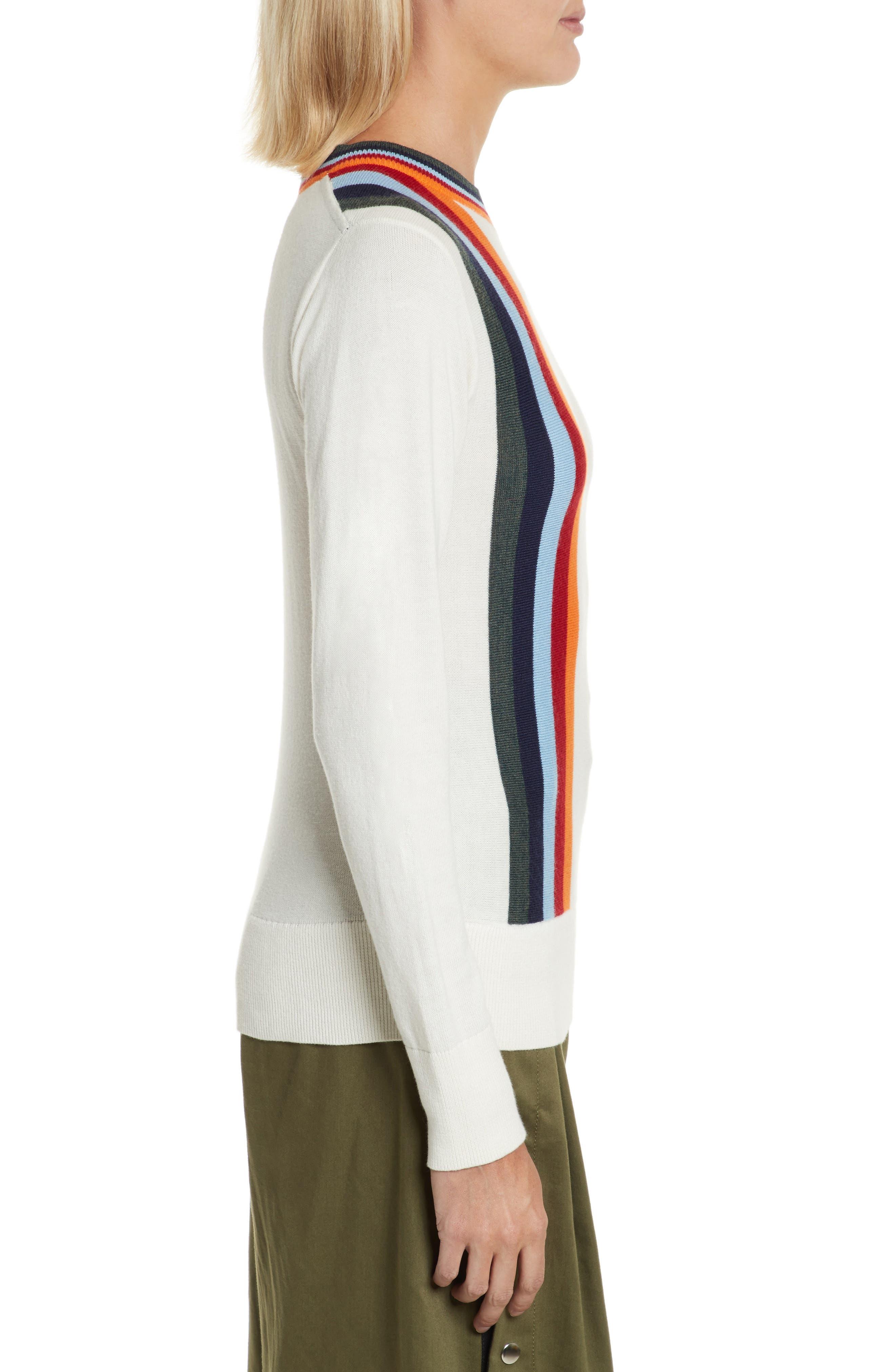Nell Stripe Cotton Blend Sweater,                             Alternate thumbnail 3, color,