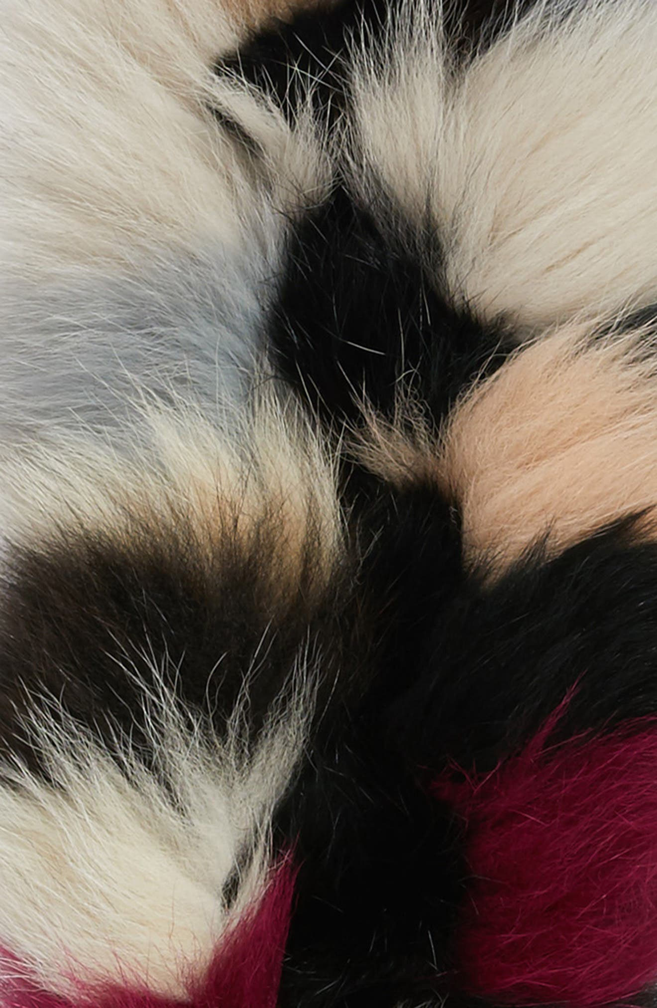 Genuine Fox Fur Scarf,                             Alternate thumbnail 4, color,                             001