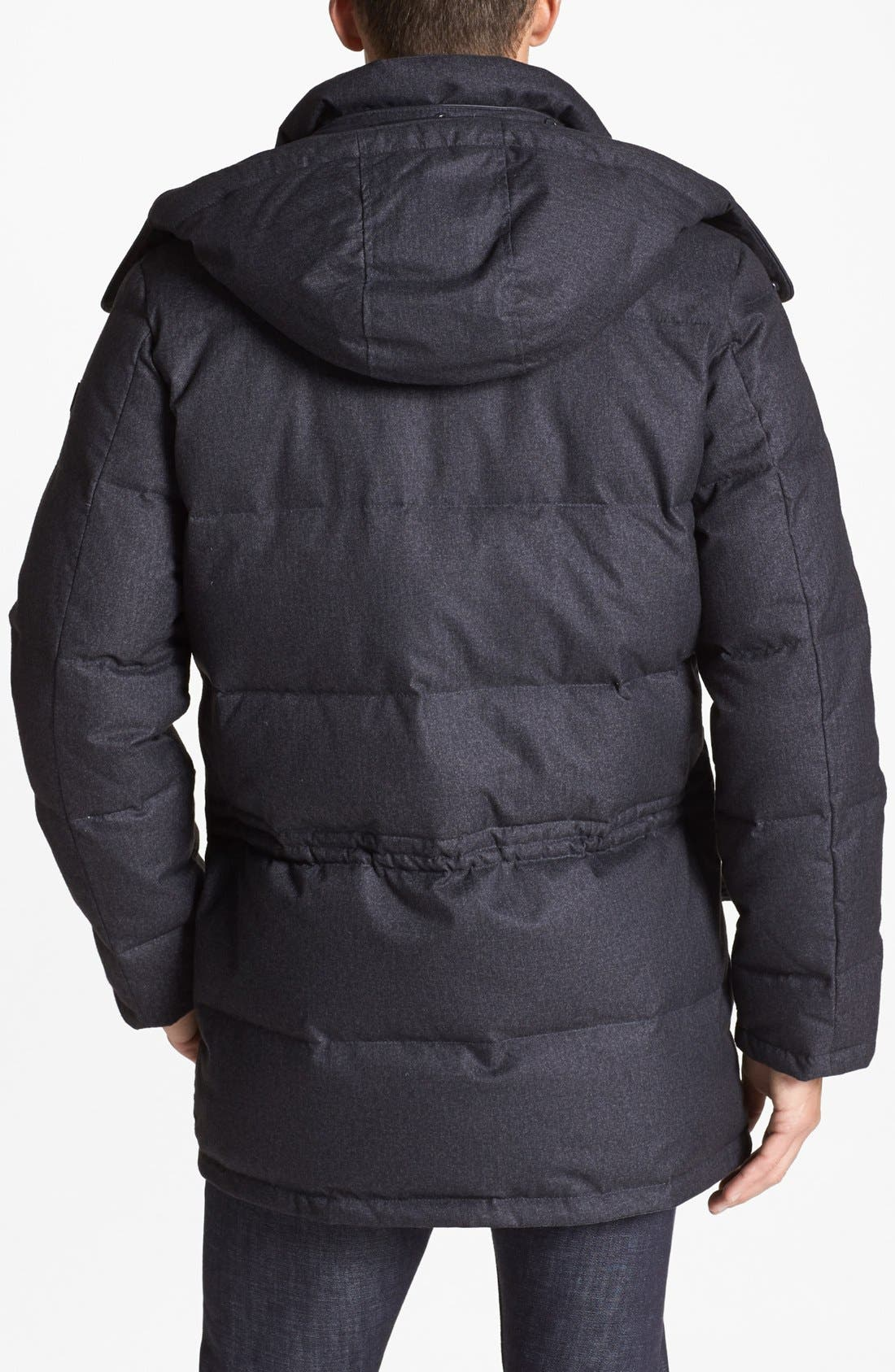 680-Down Fill Quilted Hooded Parka,                             Alternate thumbnail 4, color,