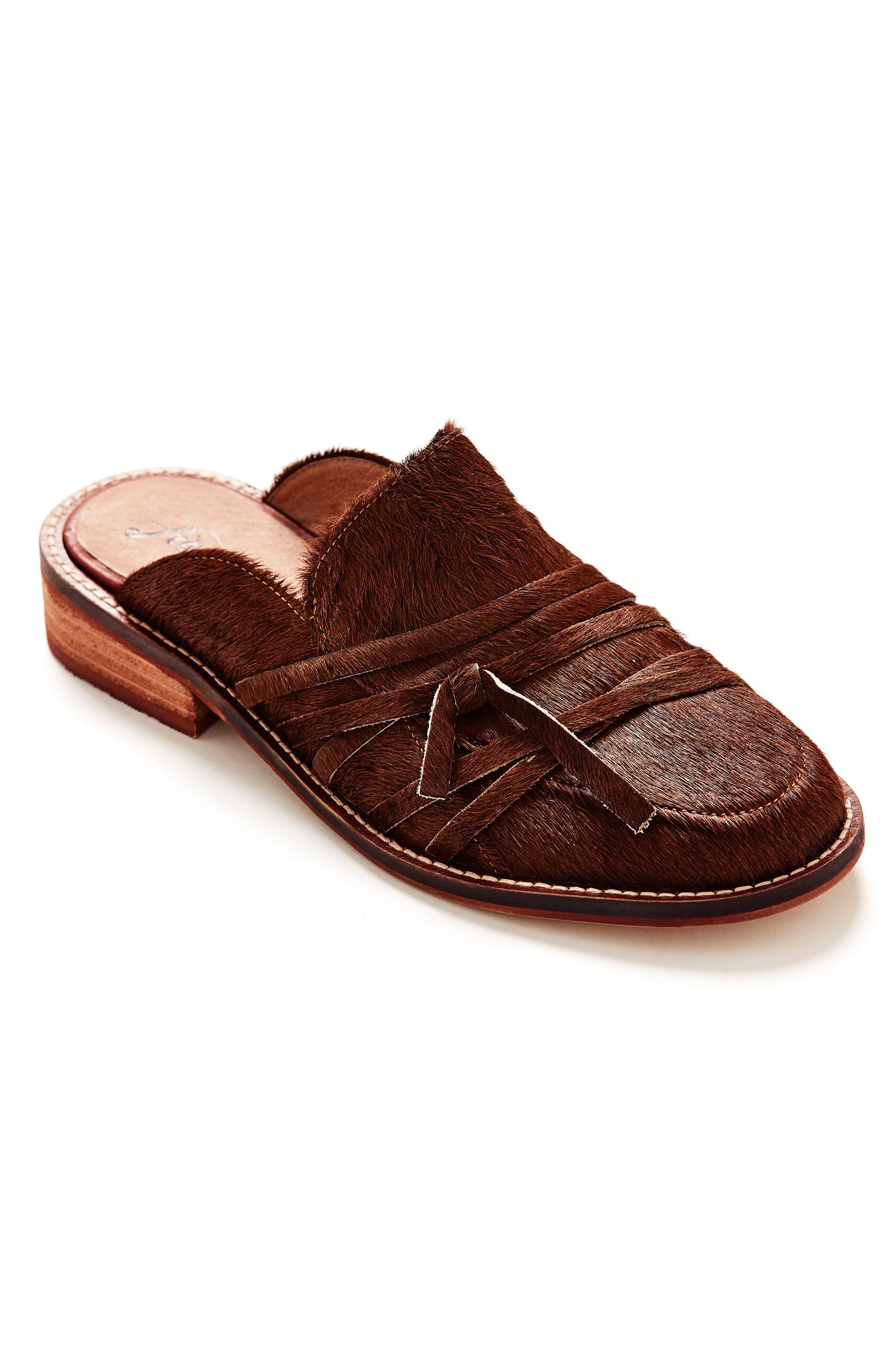 Saratoga Loafer Mule,                             Alternate thumbnail 8, color,                             COPPER CALF HAIR