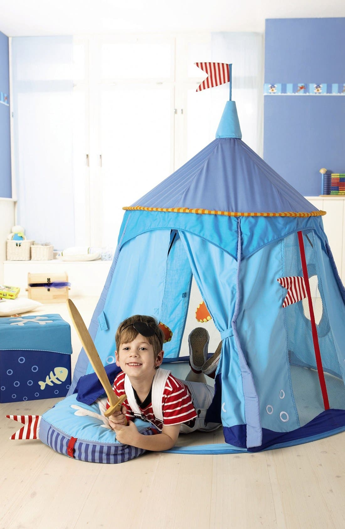 'Pirate's Treasure' Play Tent,                             Alternate thumbnail 3, color,                             BLUE