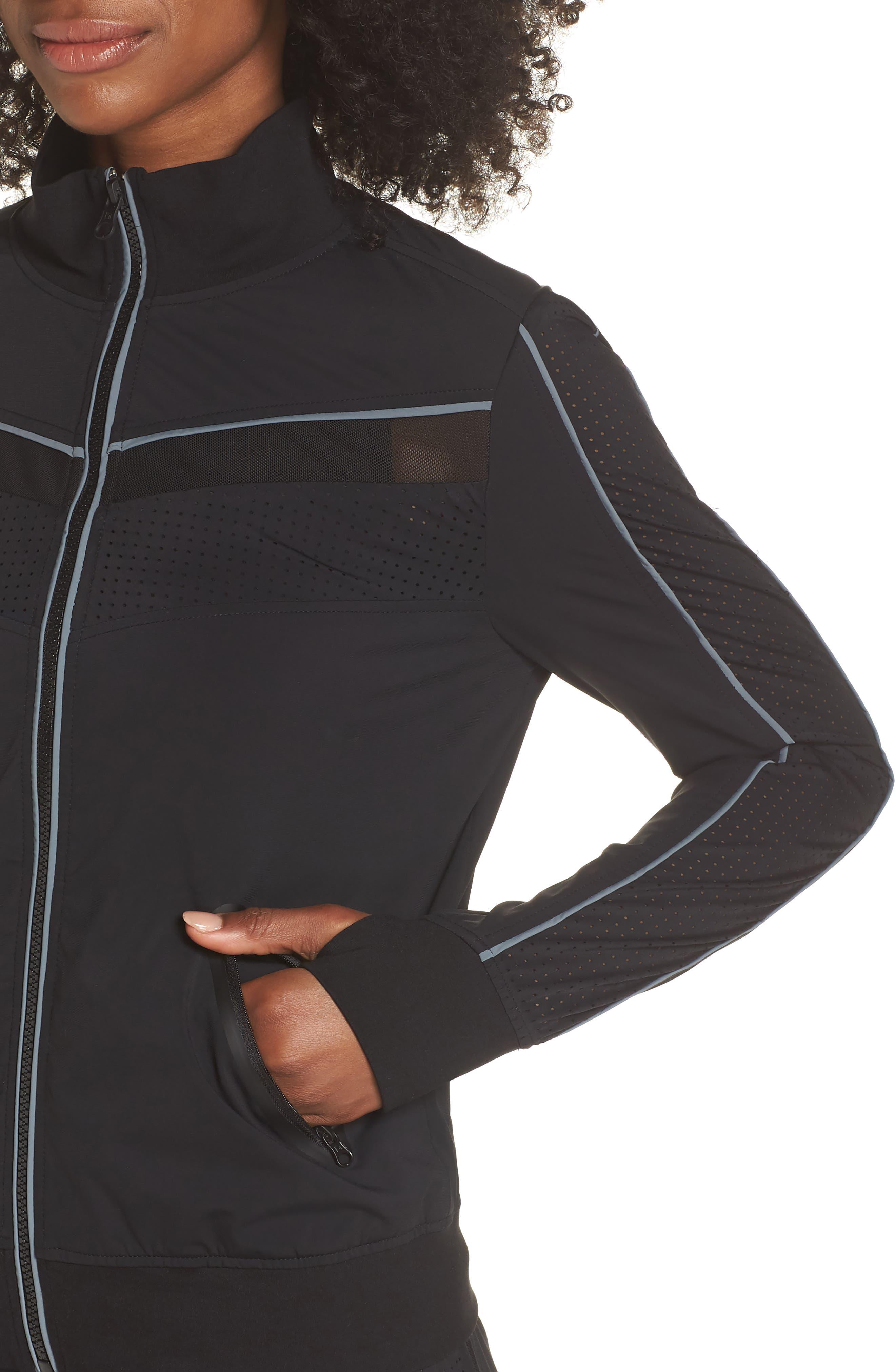 Jog Jacket,                             Alternate thumbnail 4, color,                             BLACK