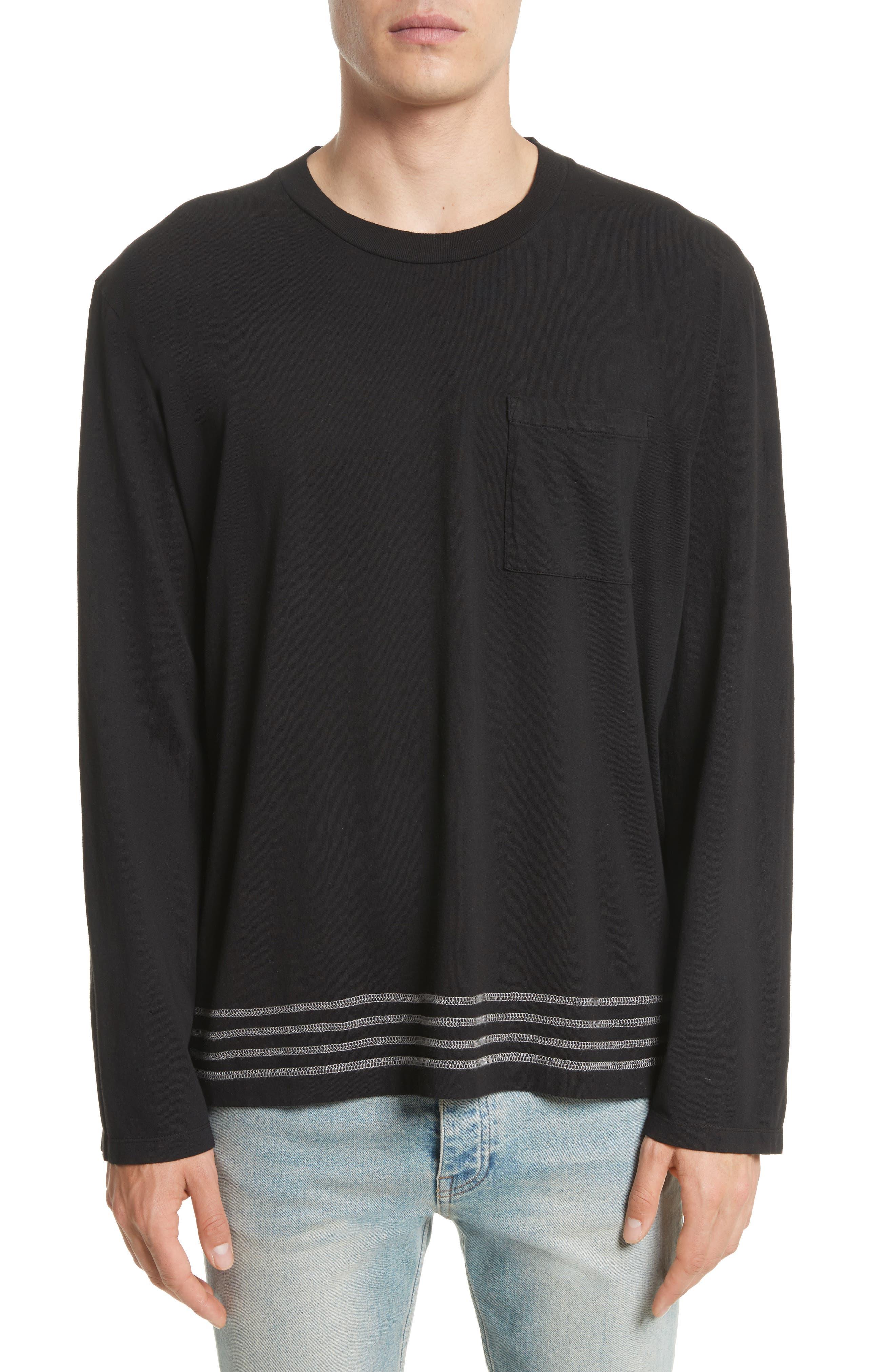 Bottom Stripe T-Shirt,                         Main,                         color, 001
