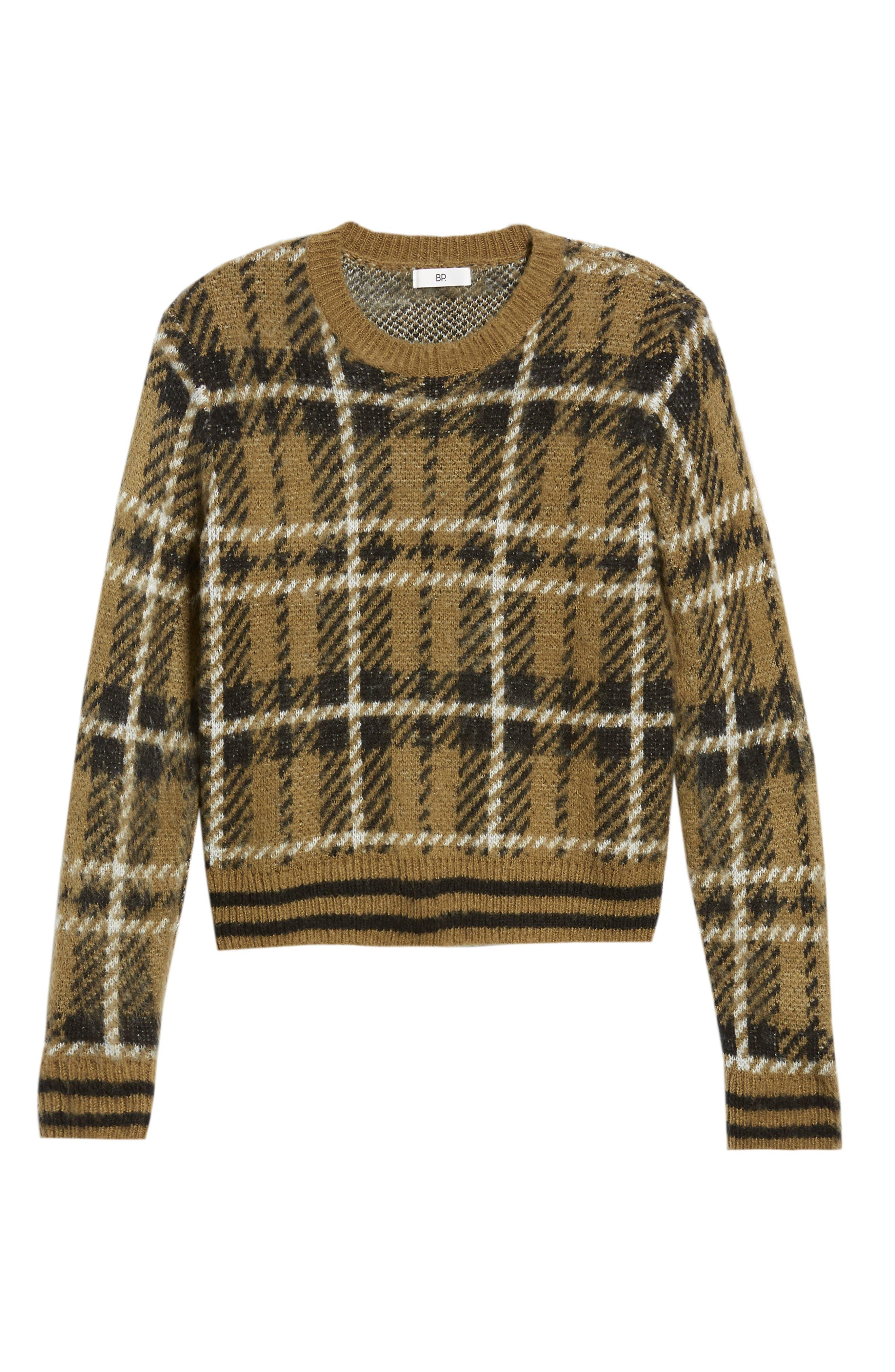 Plaid Sweater,                             Alternate thumbnail 7, color,                             315