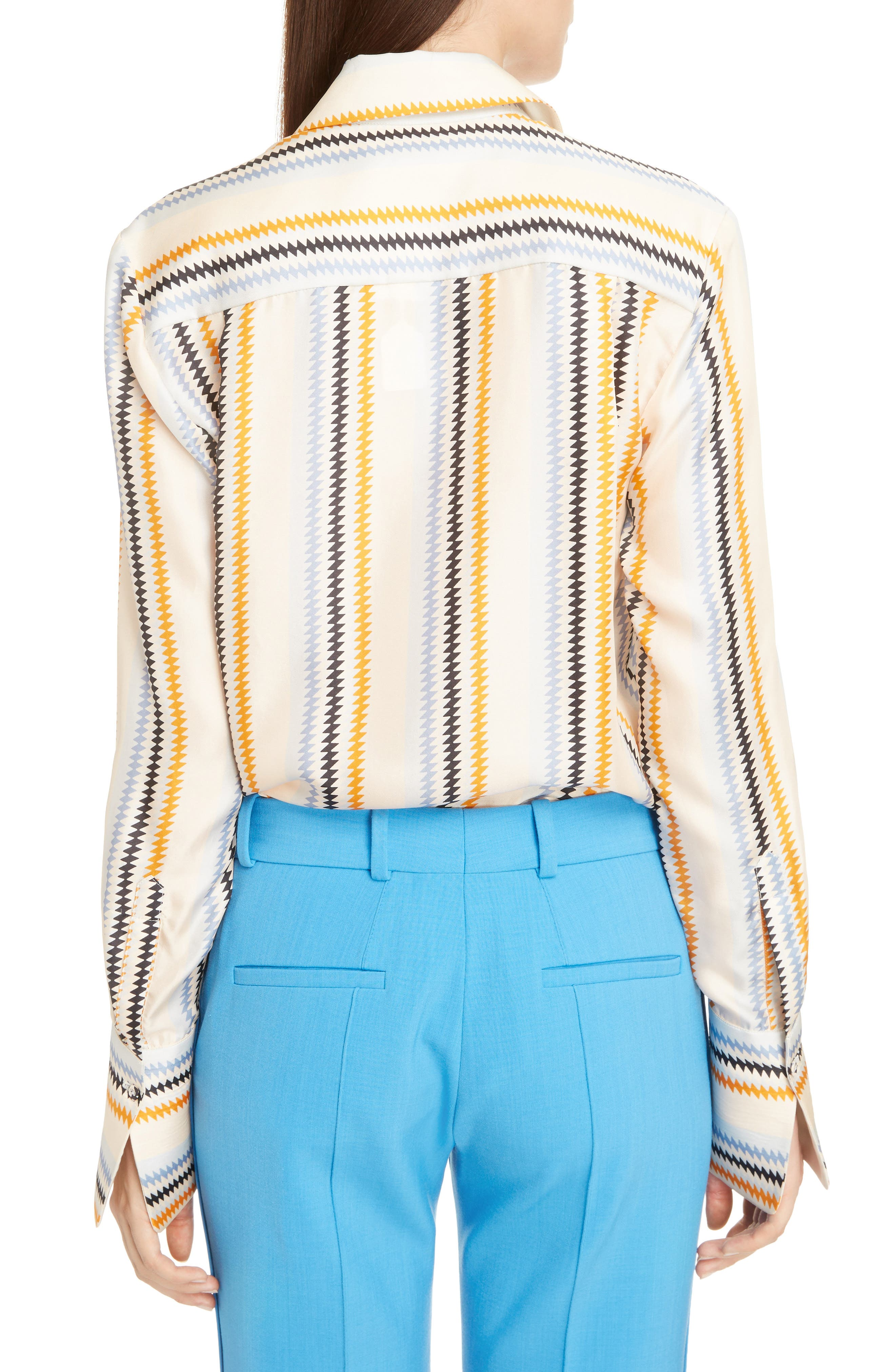 Fluid Stripe Silk Shirt,                             Alternate thumbnail 2, color,                             700