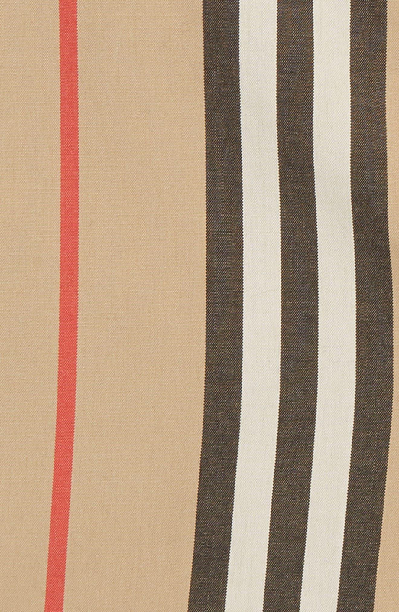 BURBERRY,                             Nicki Stripe Shorts,                             Alternate thumbnail 2, color,                             ARCHIVE BEIGE