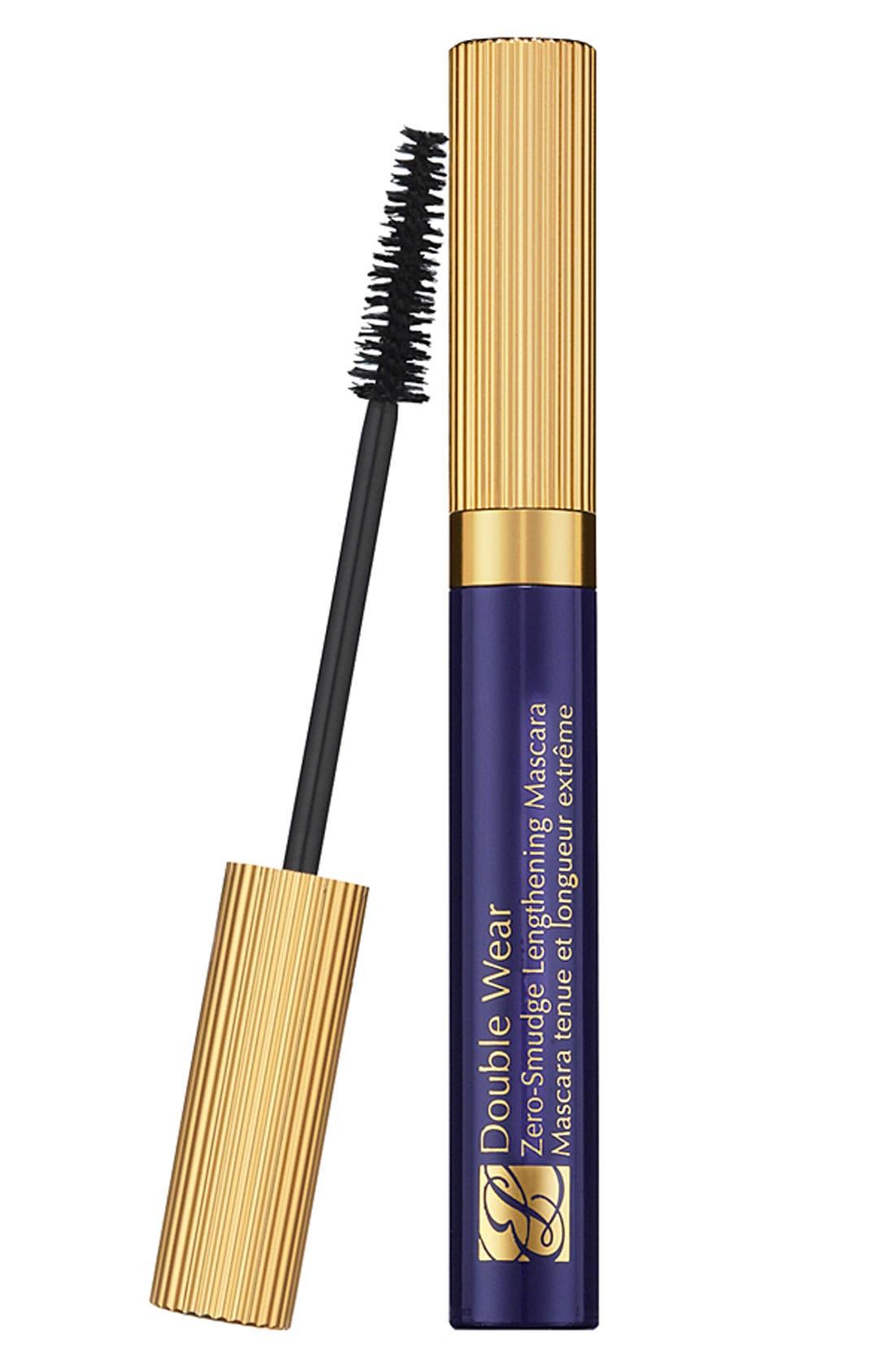 Double Wear Zero-Smudge Lengthening Mascara,                             Main thumbnail 1, color,                             BLACK