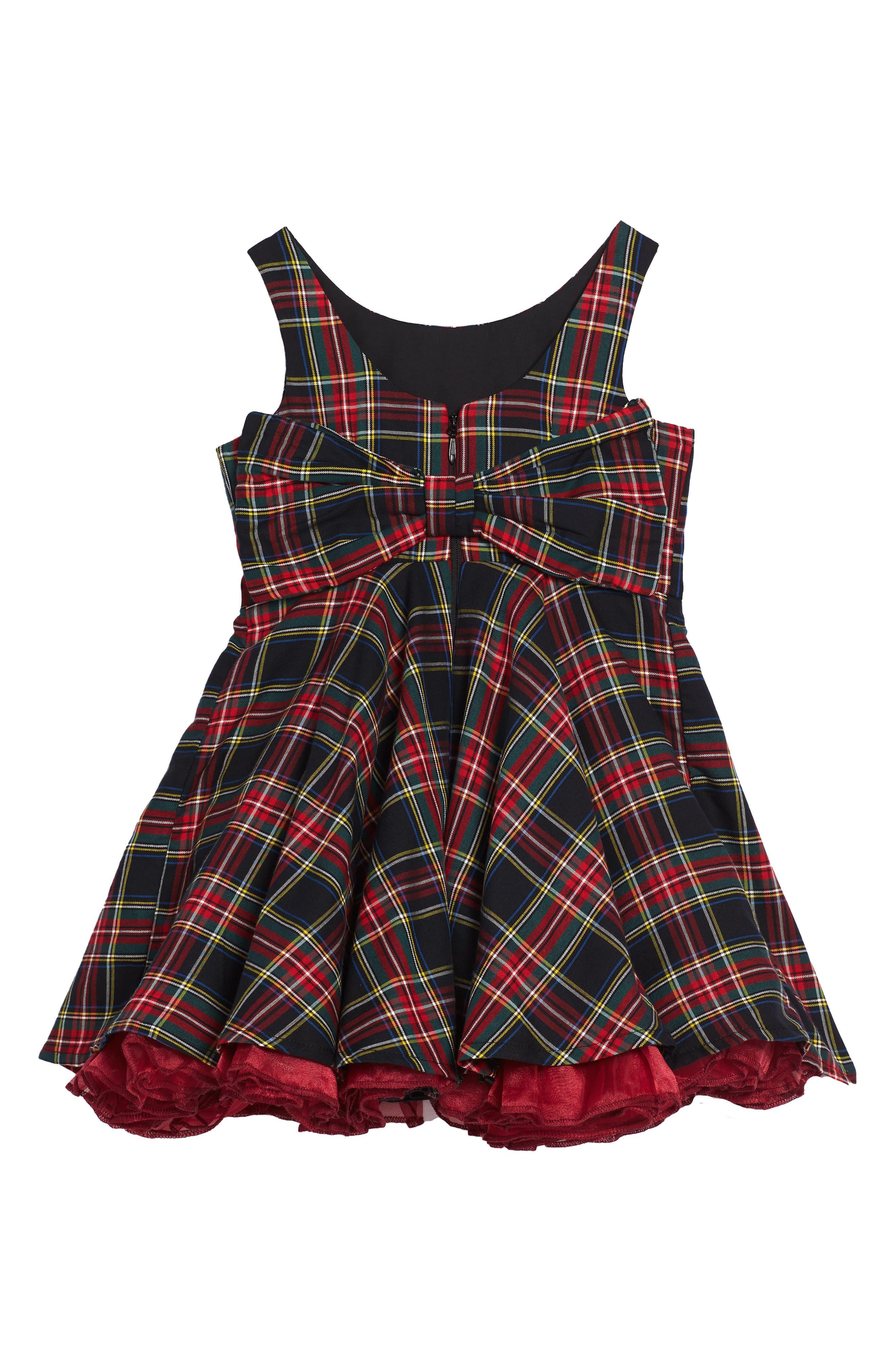 Tartan Party Dress,                             Alternate thumbnail 2, color,                             600