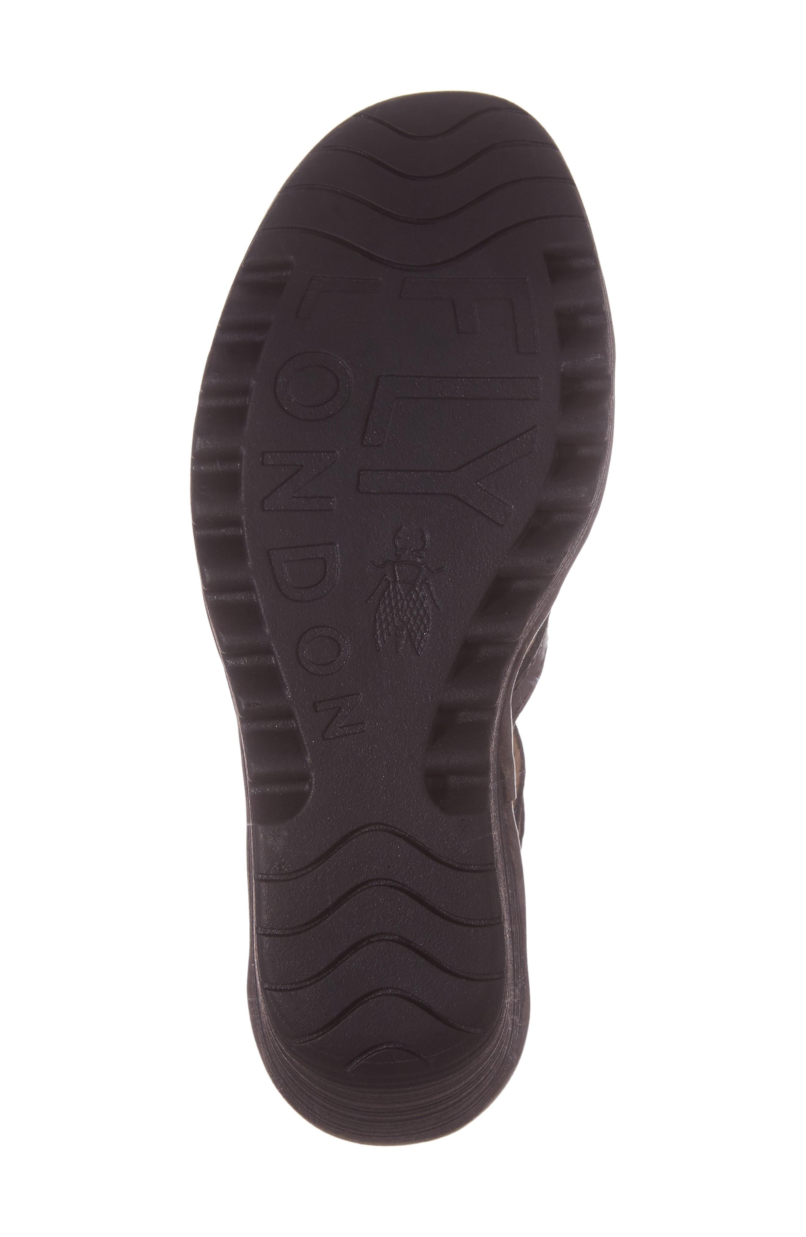 'Yuke' Platform Wedge Sandal,                             Alternate thumbnail 6, color,                             ANTHRACITE LEATHER